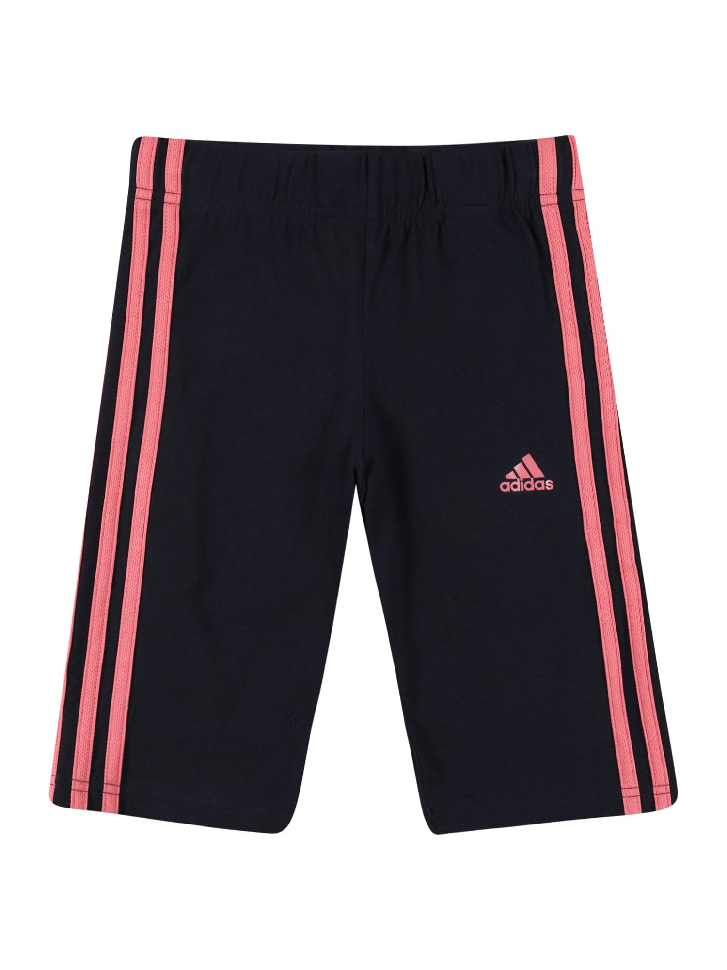 ADIDAS PERFORMANCE Sportinės kelnės juoda / rožinė
