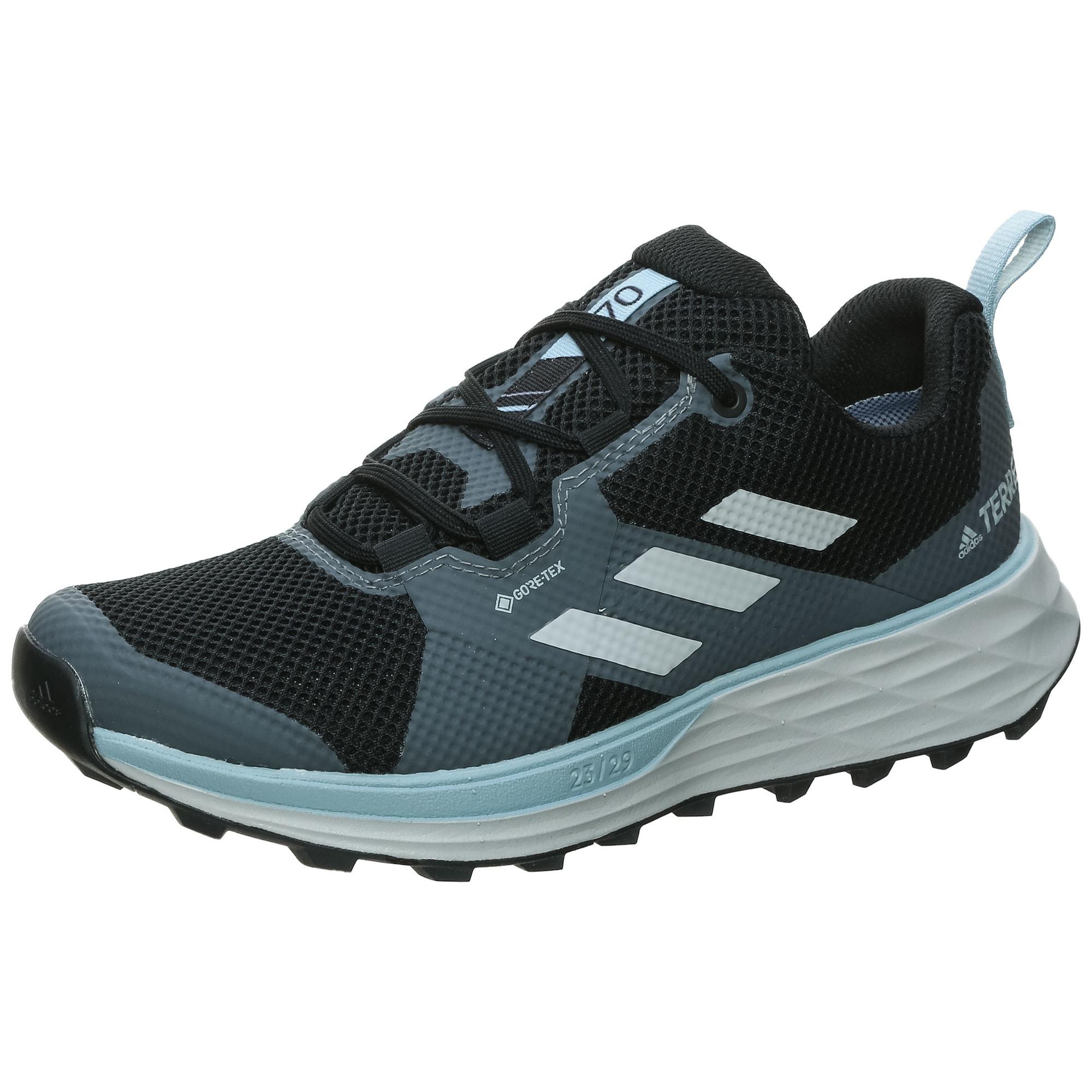 ADIDAS PERFORMANCE Bėgimo batai juoda / melsvai pilka / balta