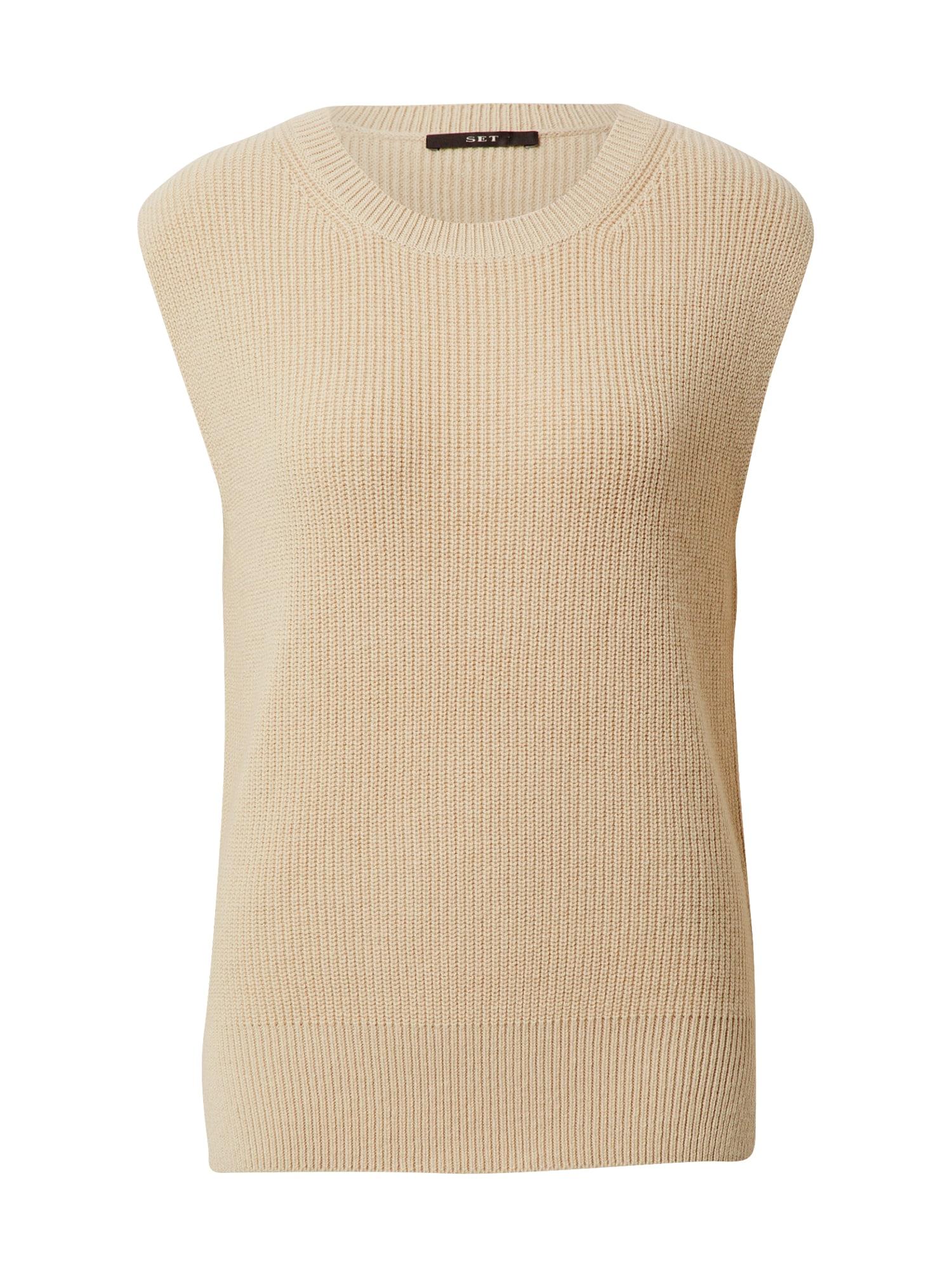 SET Megztinis šviesiai ruda