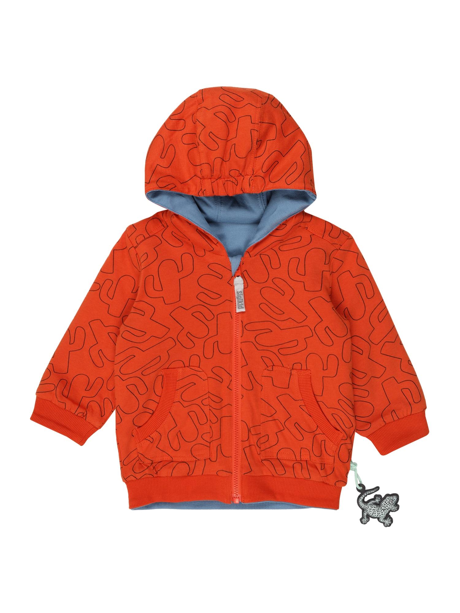 SIGIKID Džemperis oranžinė / mėlyna dūmų spalva / juoda