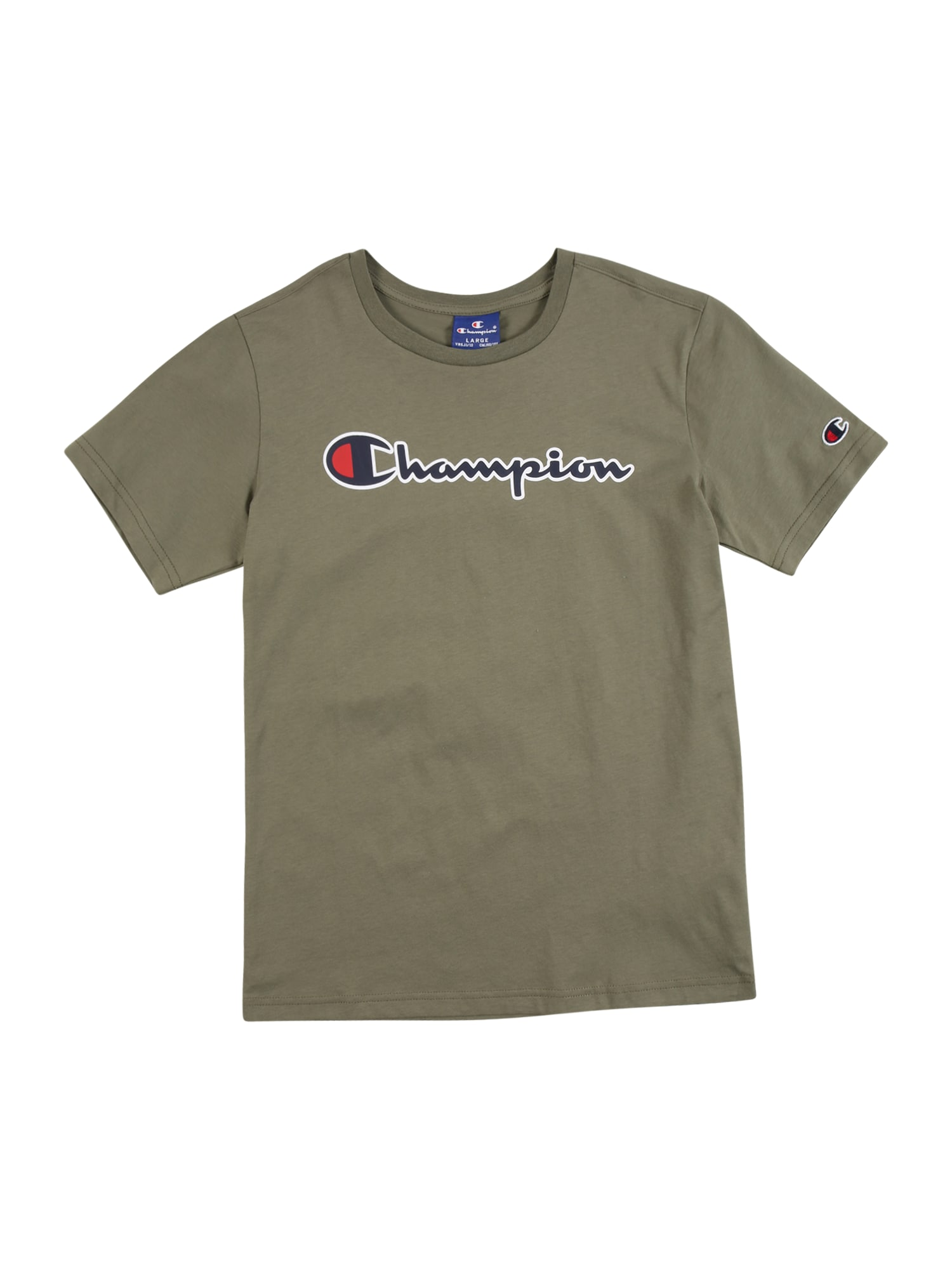 Champion Authentic Athletic Apparel Marškinėliai tamsiai mėlyna / raudona / balta / alyvuogių spalva