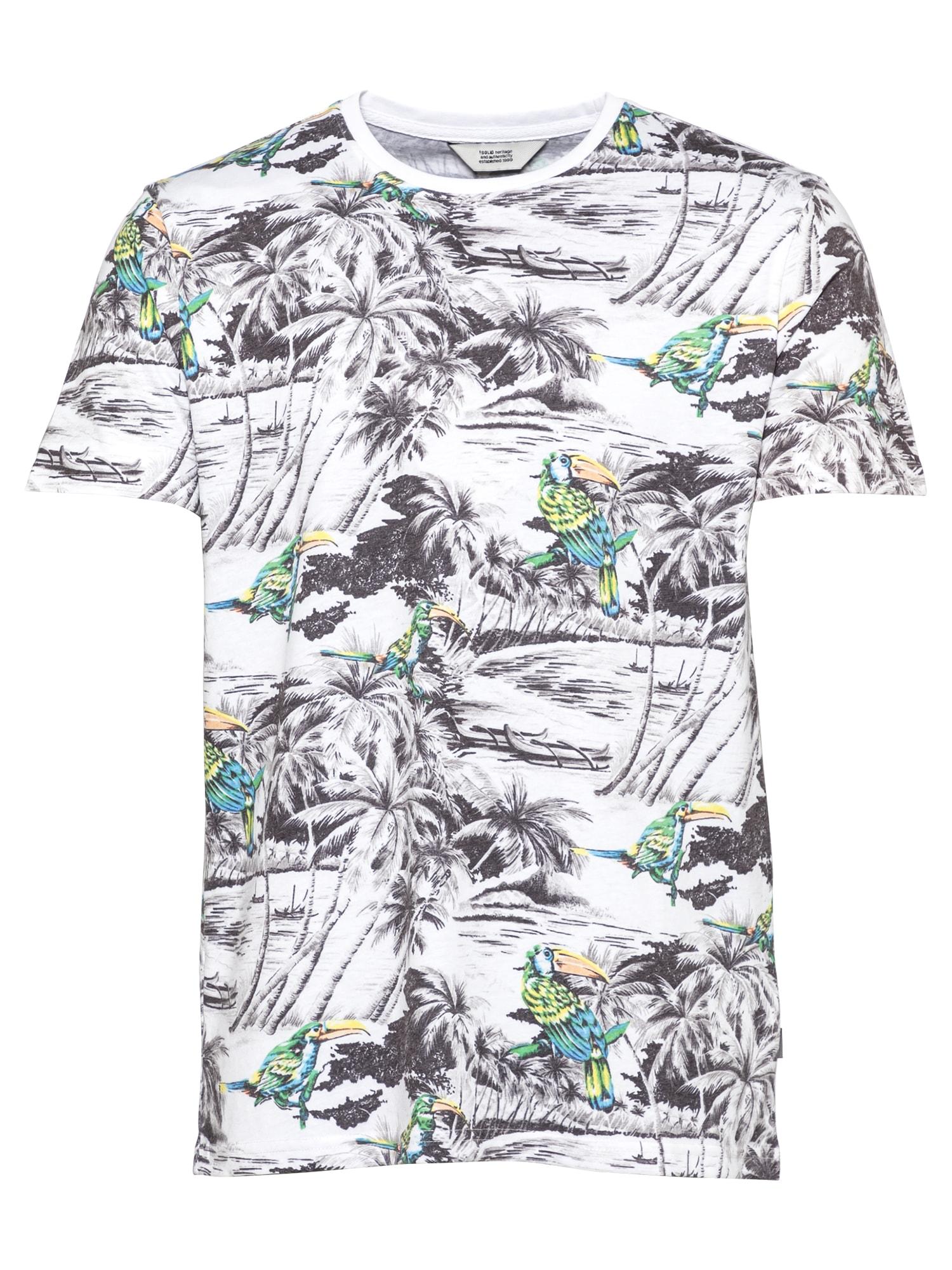 !Solid Marškinėliai balta / juoda / turkio spalva / geltona / žaliosios citrinos spalva