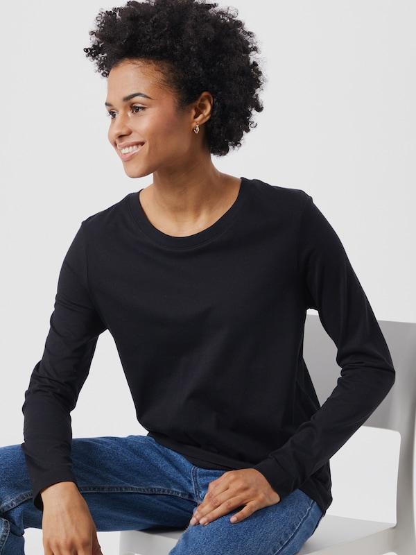 Selected Femme Standard Basic-Langarm-T-Shirt