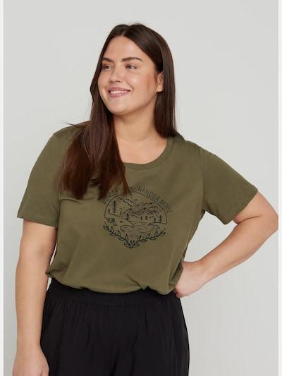 T-Shirt von Zizzi.  Hübsches und schlichtes T-Shirt aus 100% Baumwolle. Das T-Shirt hat einen Rundhalsausschnitt, kurze Ärmel und ein tolles und dekoratives Print auf der Vorderseite.