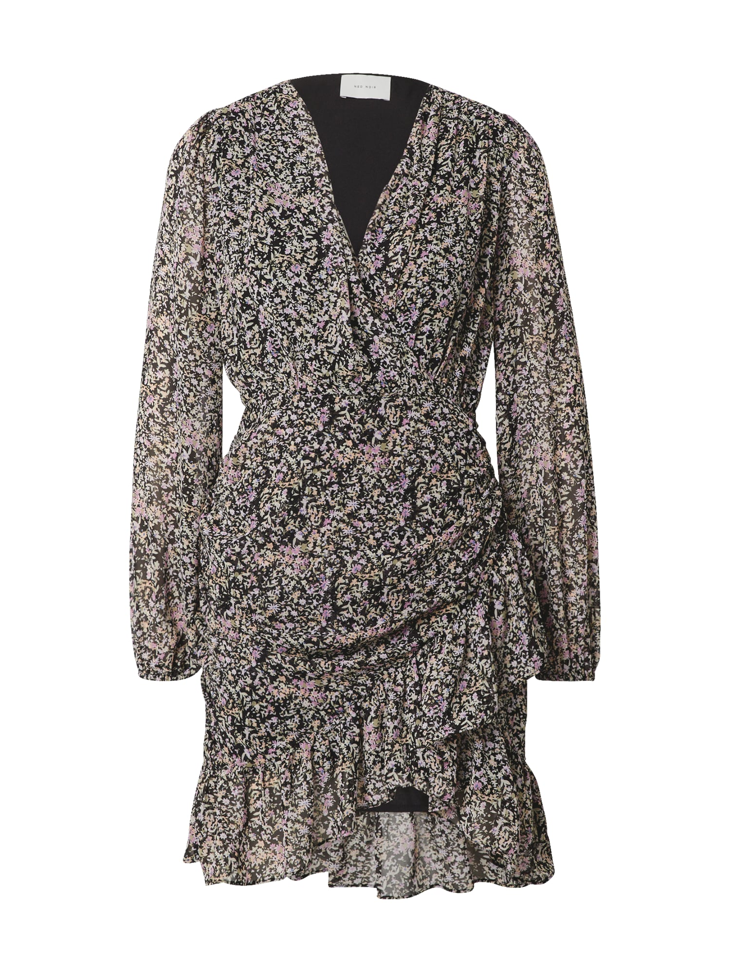 Neo Noir Vasarinė suknelė balta / juoda / purpurinė