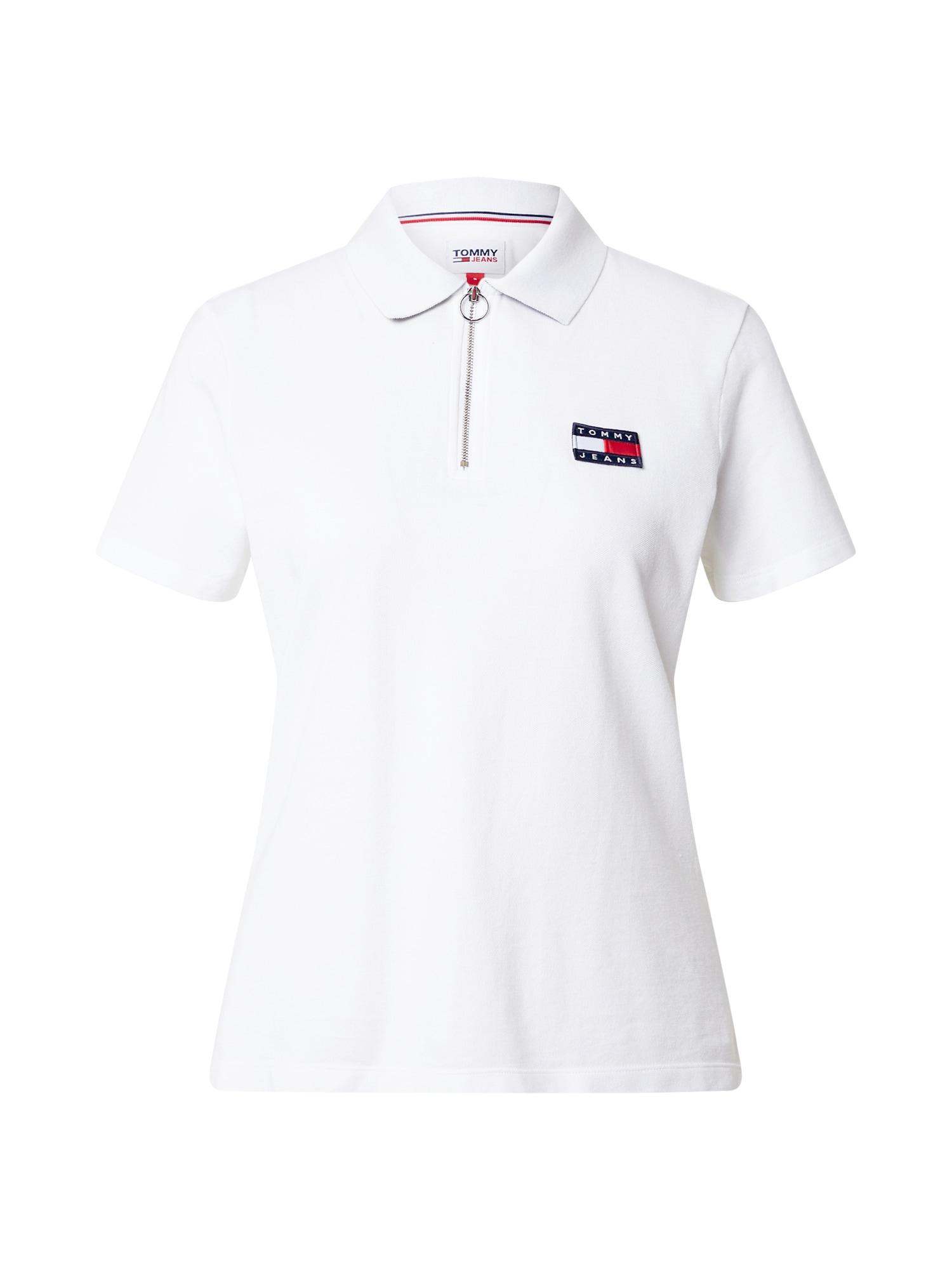 Tommy Jeans Marškinėliai balta / tamsiai mėlyna / šviesiai raudona