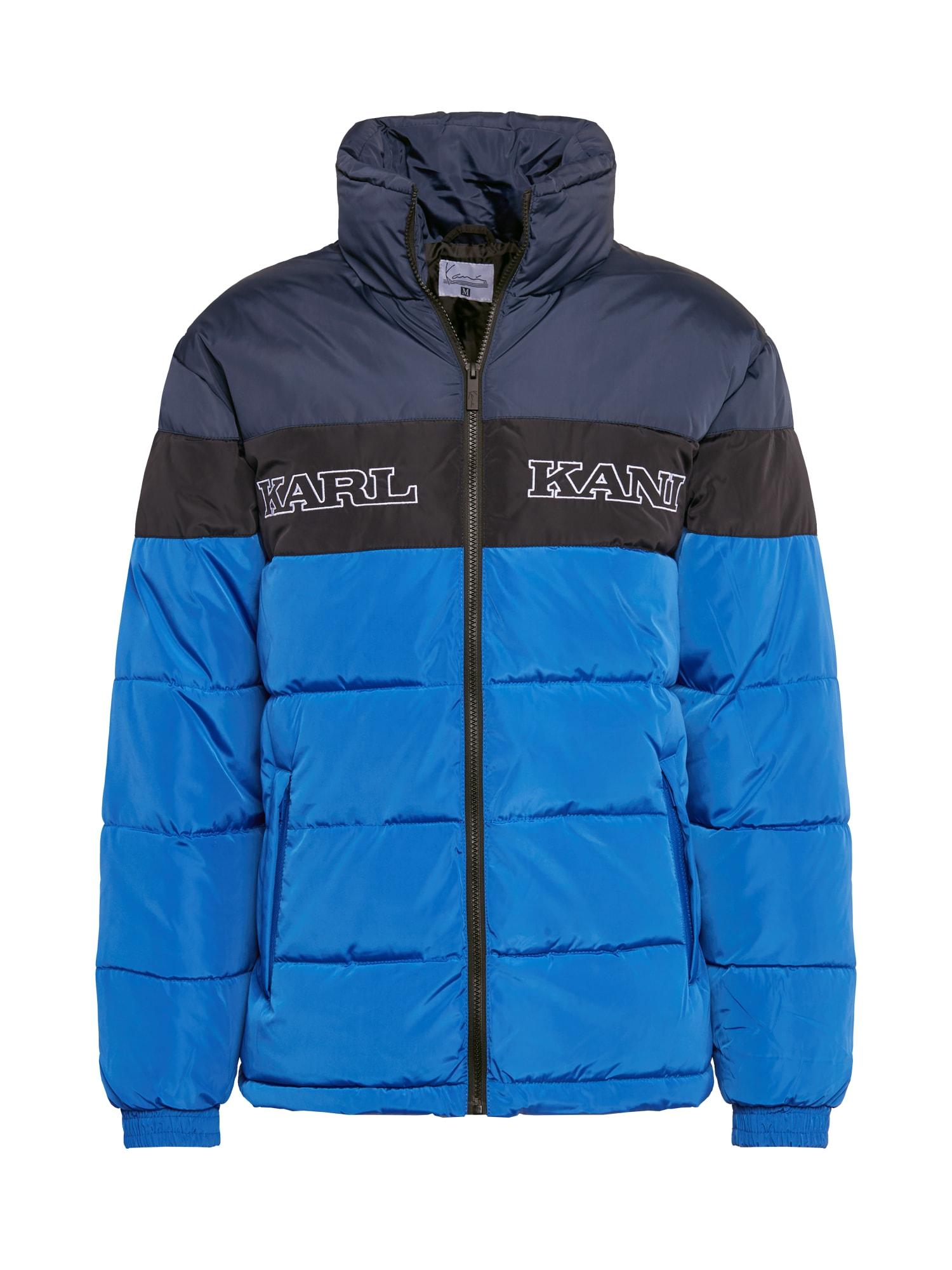 Karl Kani Zimní bunda  černá / noční modrá / modrá / bílá