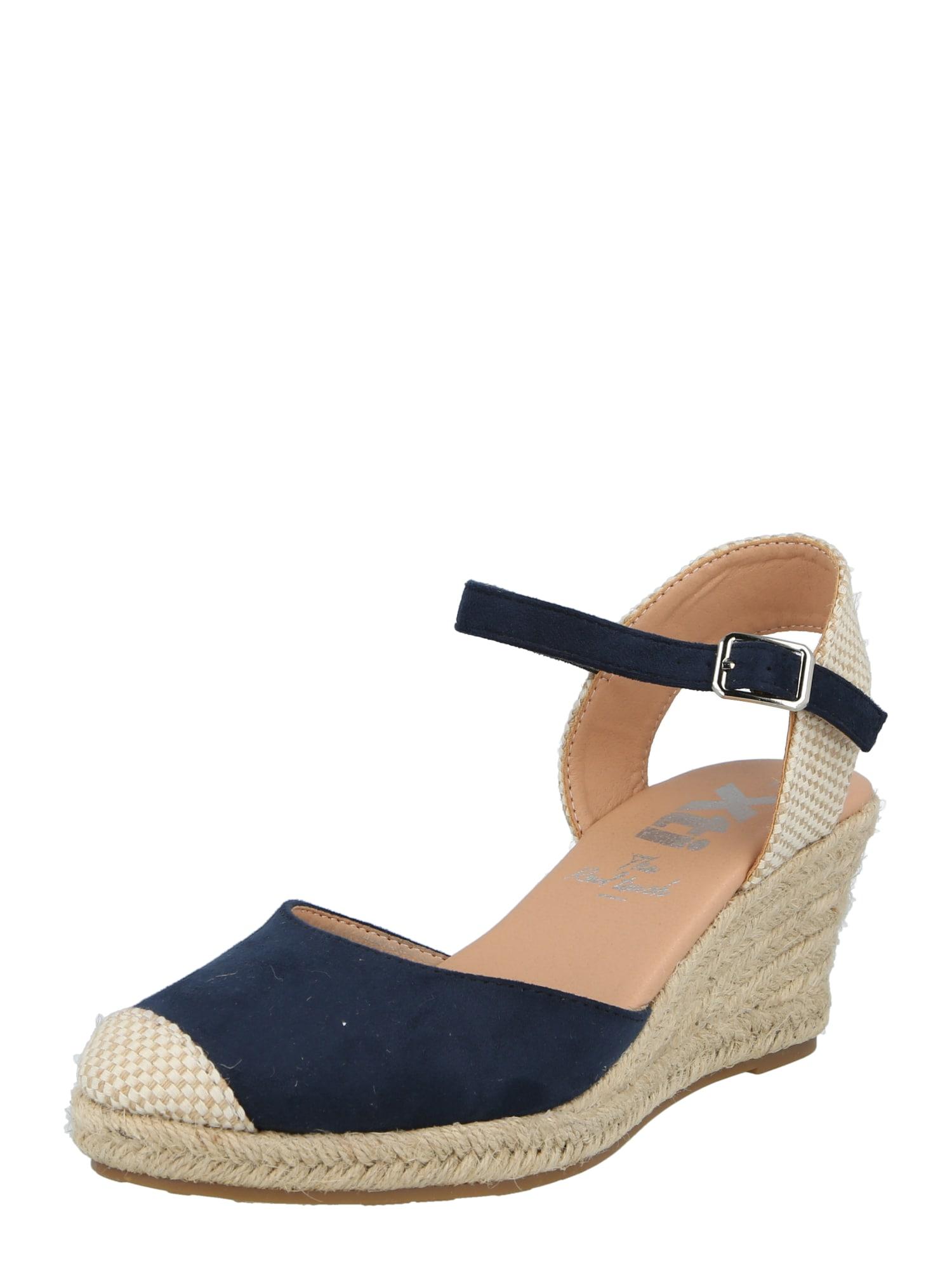 Xti Sandalai tamsiai mėlyna / smėlio spalva