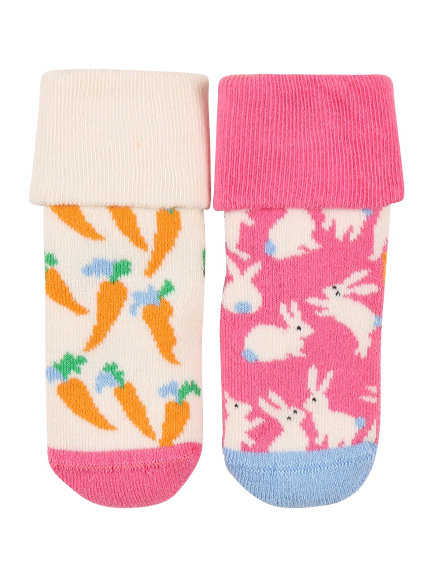 Happy Socks Kojinės rožinė / balta / oranžinė / šviesiai mėlyna