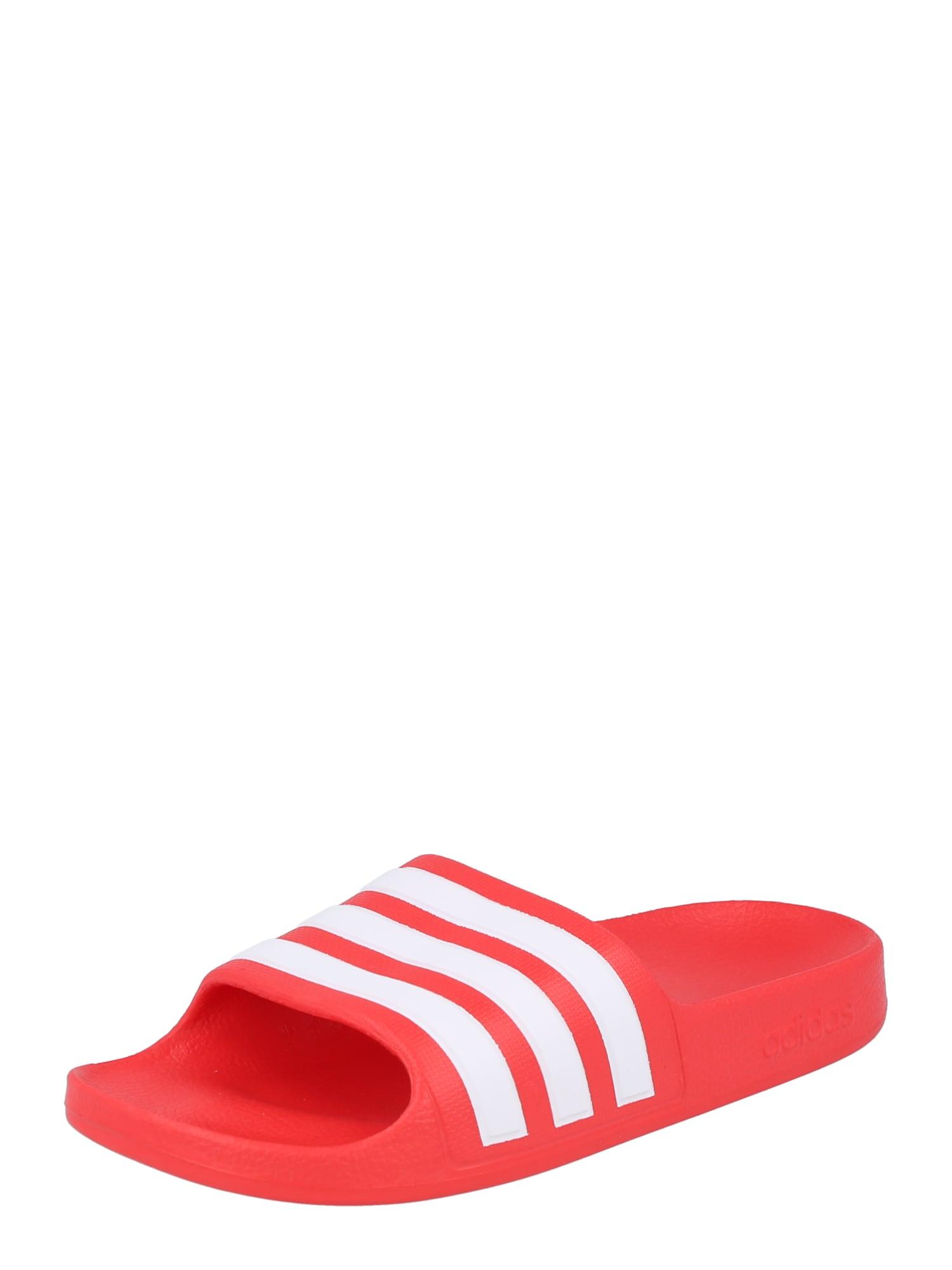 ADIDAS PERFORMANCE Sandalai / maudymosi batai raudona / balta
