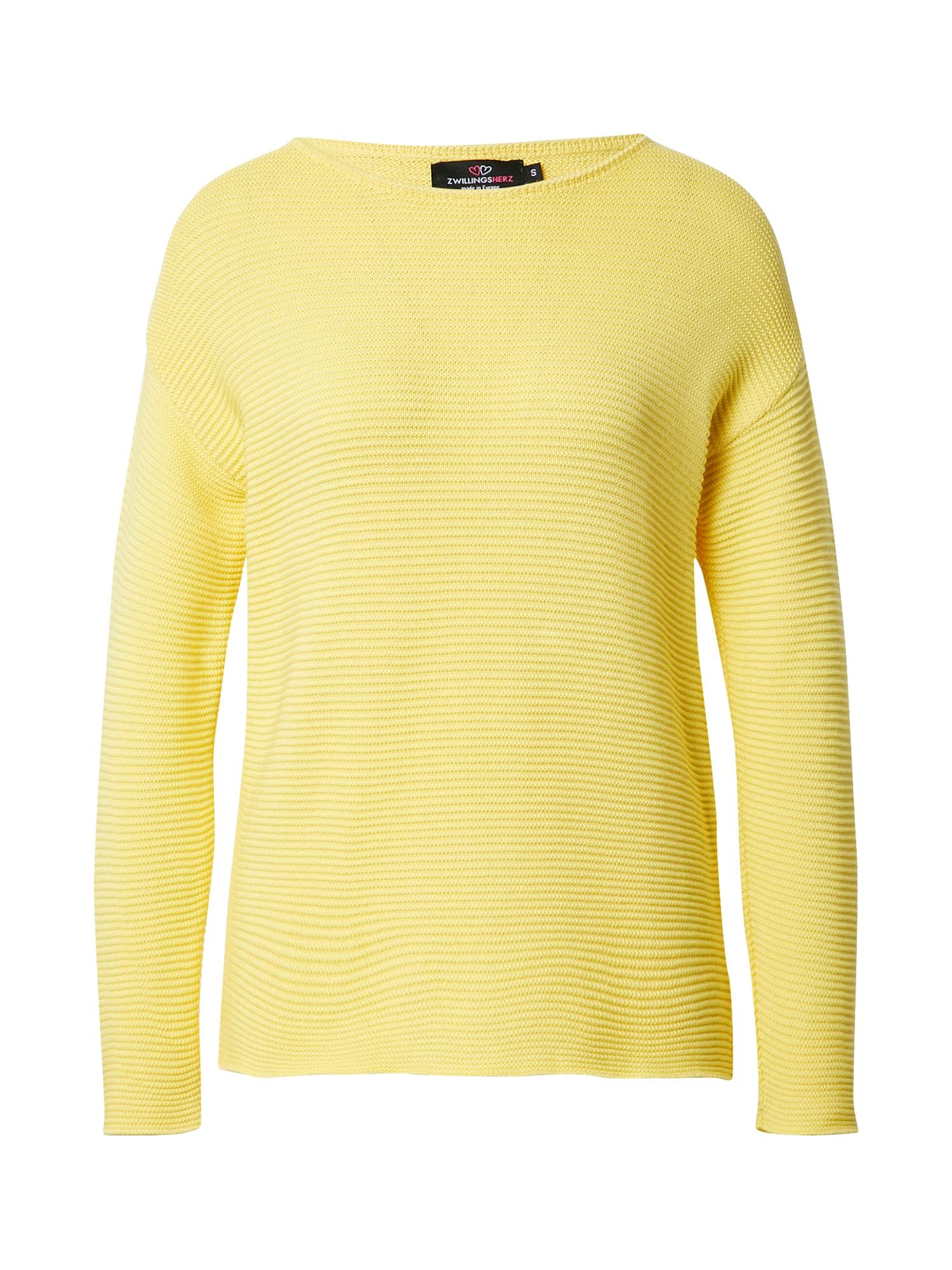 Zwillingsherz Megztinis geltona