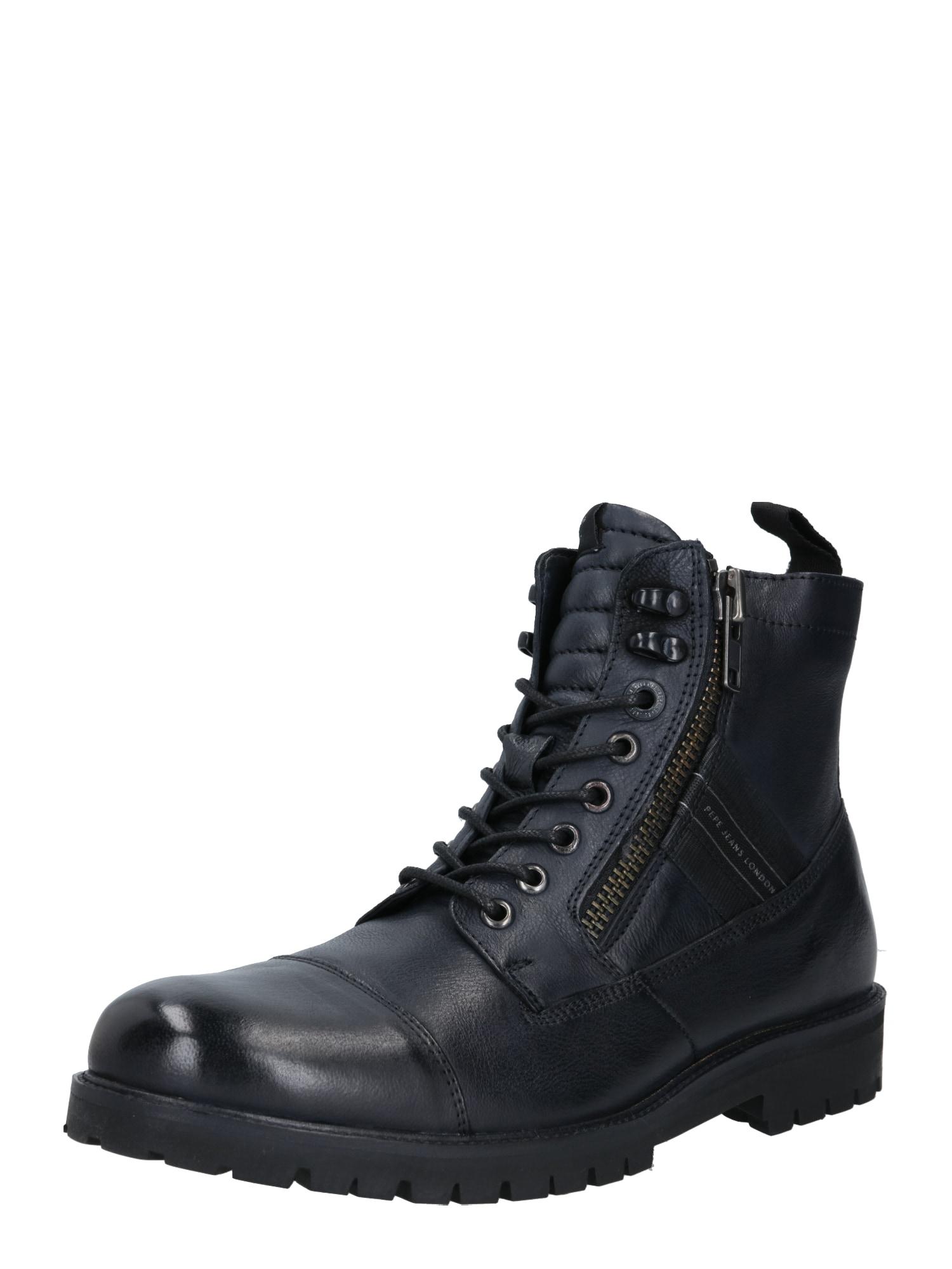 Pepe Jeans Auliniai batai su raišteliais juoda