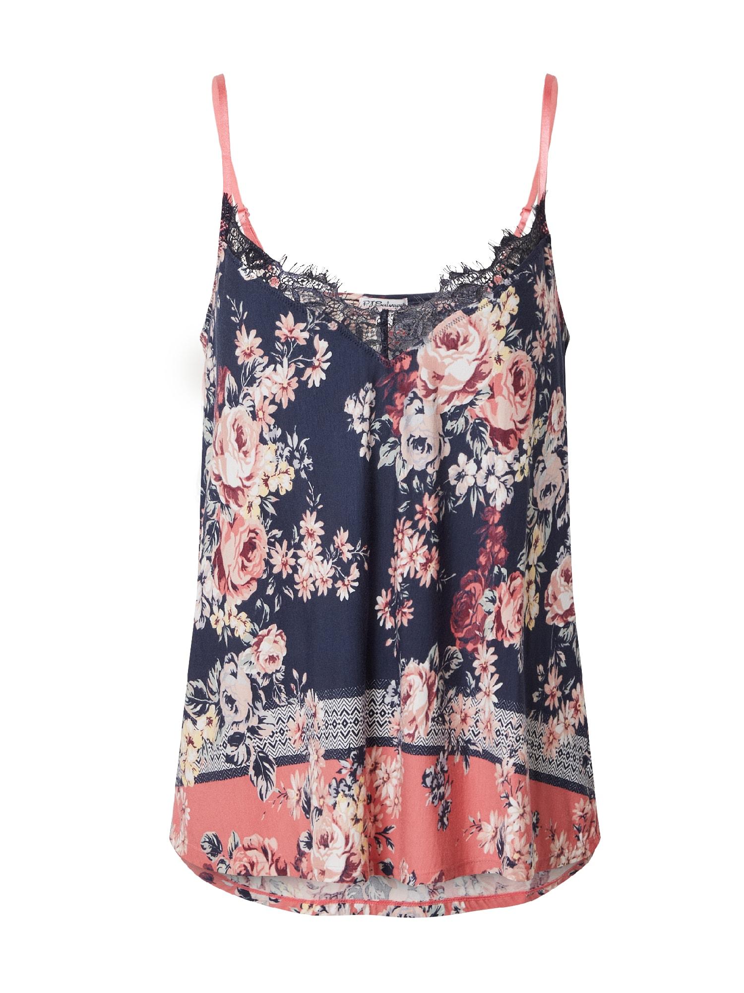 PJ Salvage Pižaminiai marškinėliai tamsiai mėlyna / pitajų spalva / ryškiai rožinė spalva / smėlio / mišrios spalvos