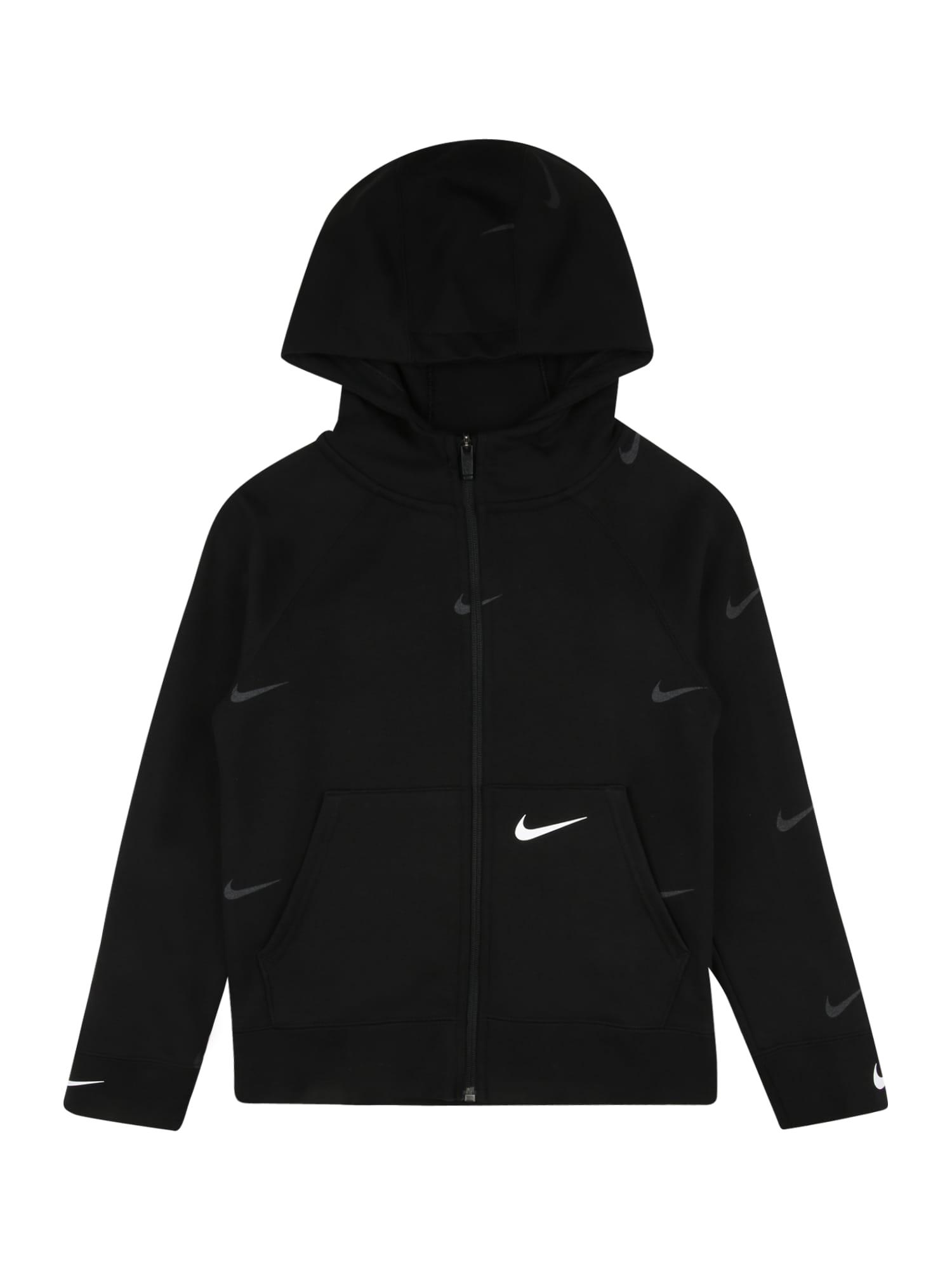 Nike Sportswear Džemperis balta / juoda / pilka