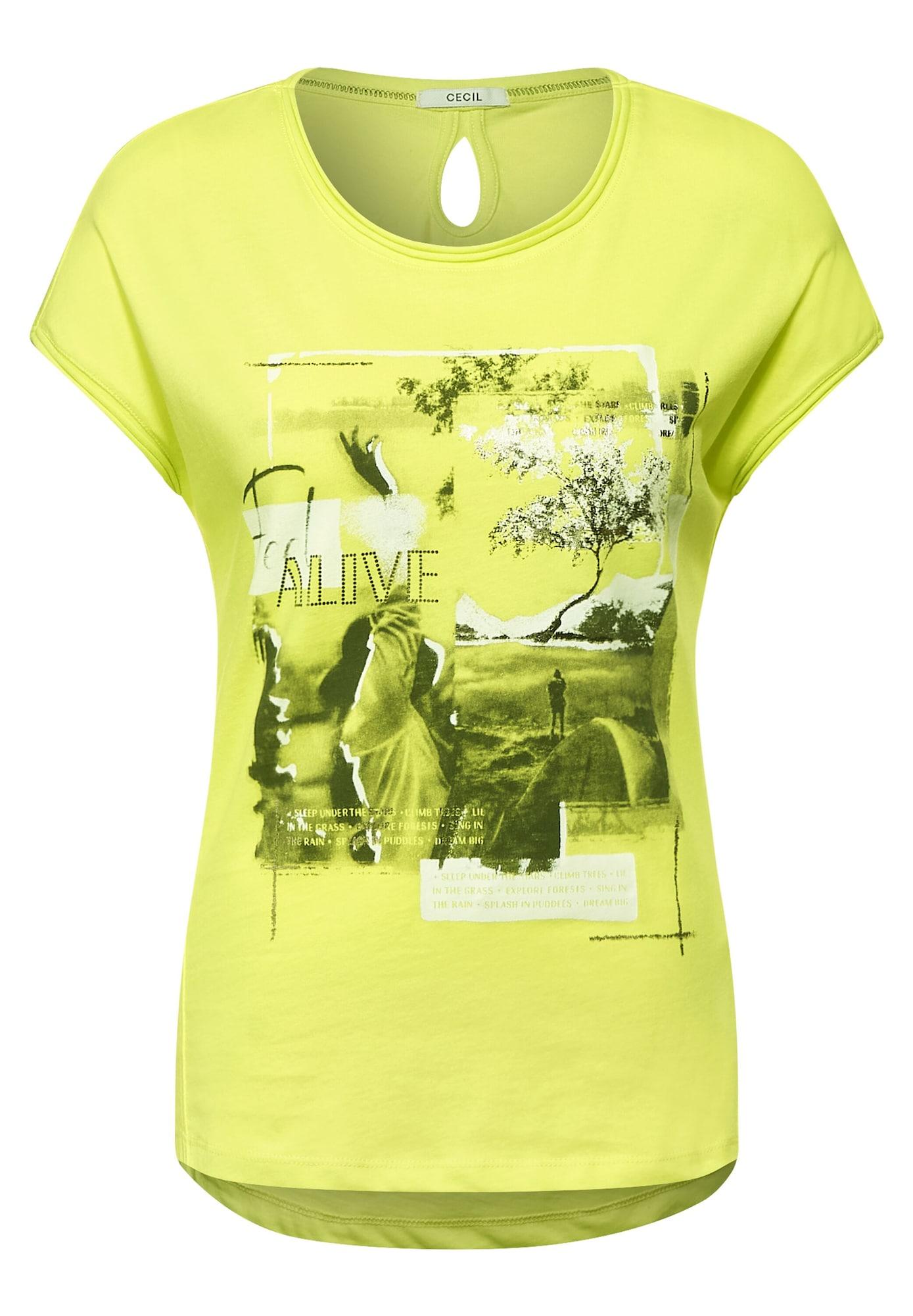 CECIL Marškinėliai geltona
