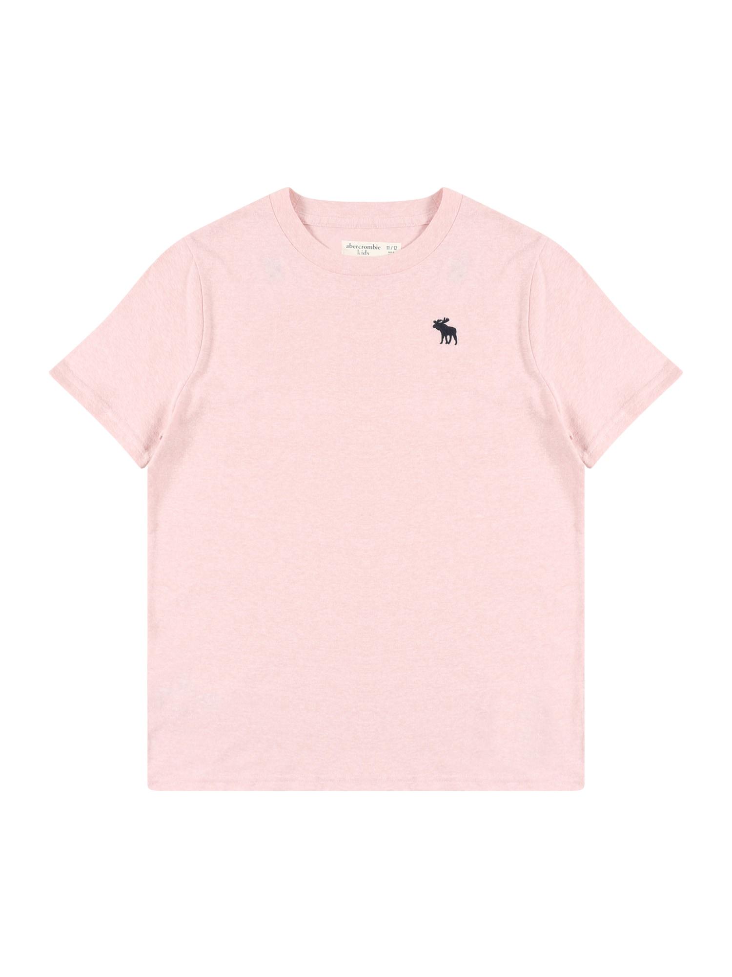 Abercrombie & Fitch Marškinėliai rožinė / juoda