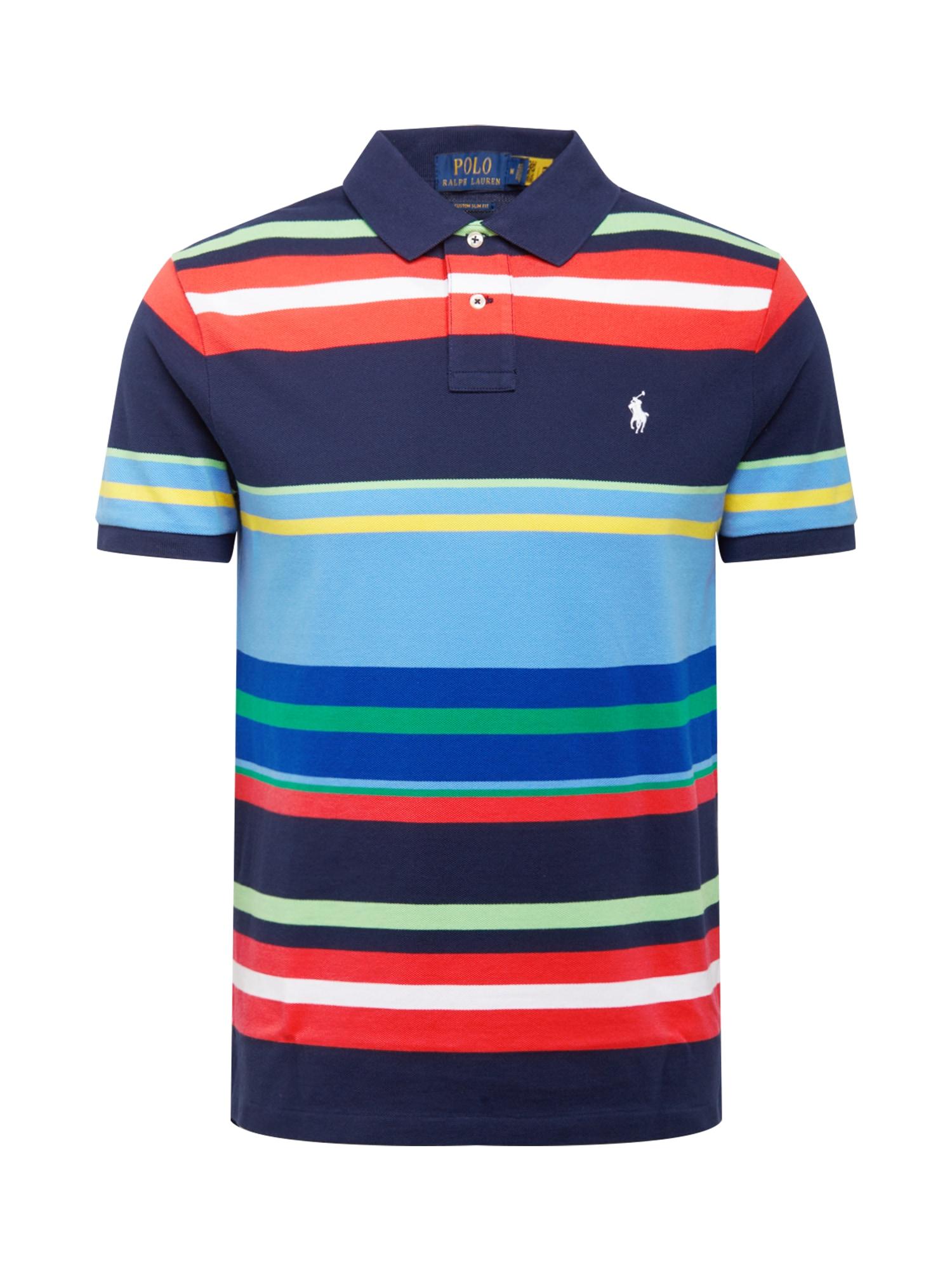 POLO RALPH LAUREN Marškinėliai tamsiai mėlyna / raudona / žalia / šviesiai mėlyna / geltona