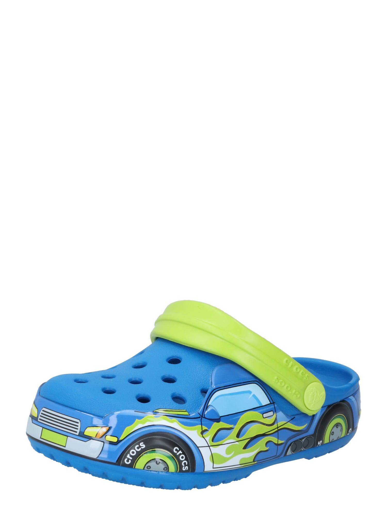 Crocs Atviri batai neoninė žalia / balta / mėlyna / juoda / oranžinė