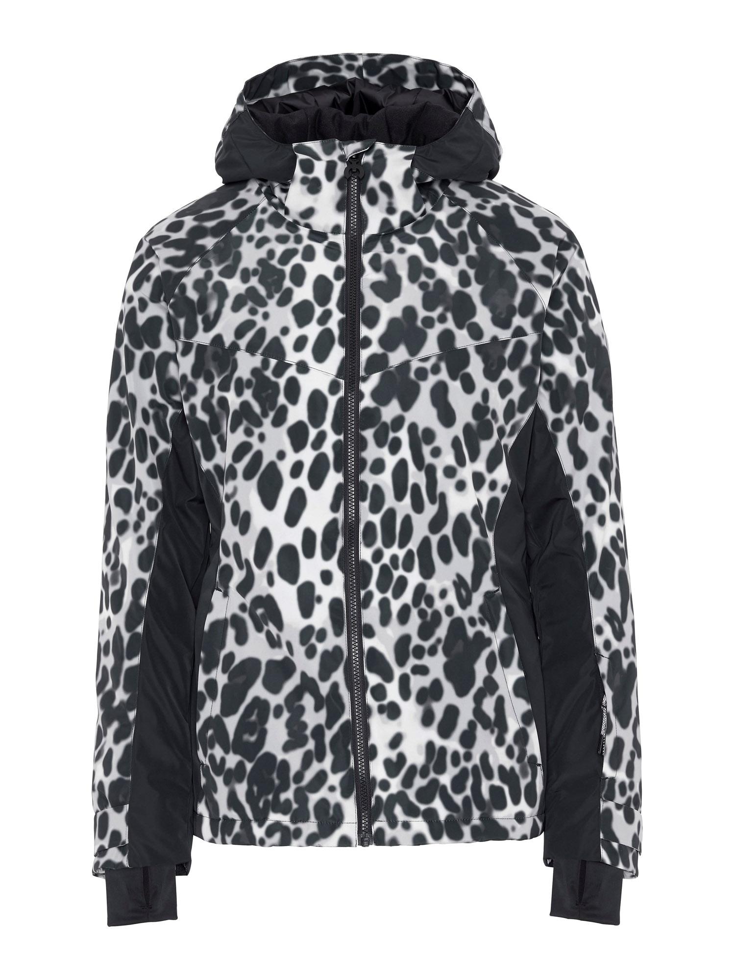 CHIEMSEE Sportovní bunda  černá / bílá