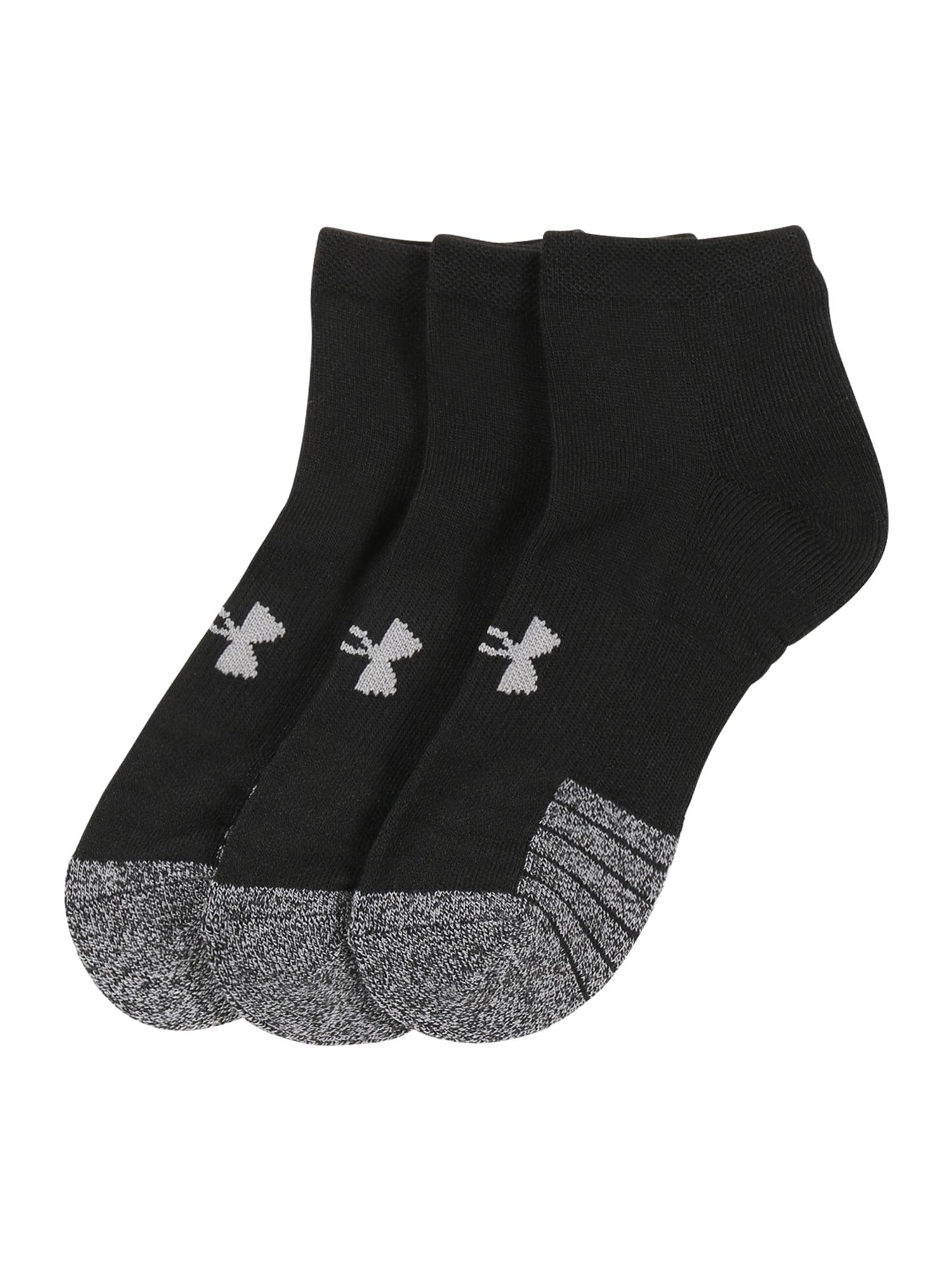 UNDER ARMOUR Sportinės kojinės juoda / margai pilka / šviesiai pilka