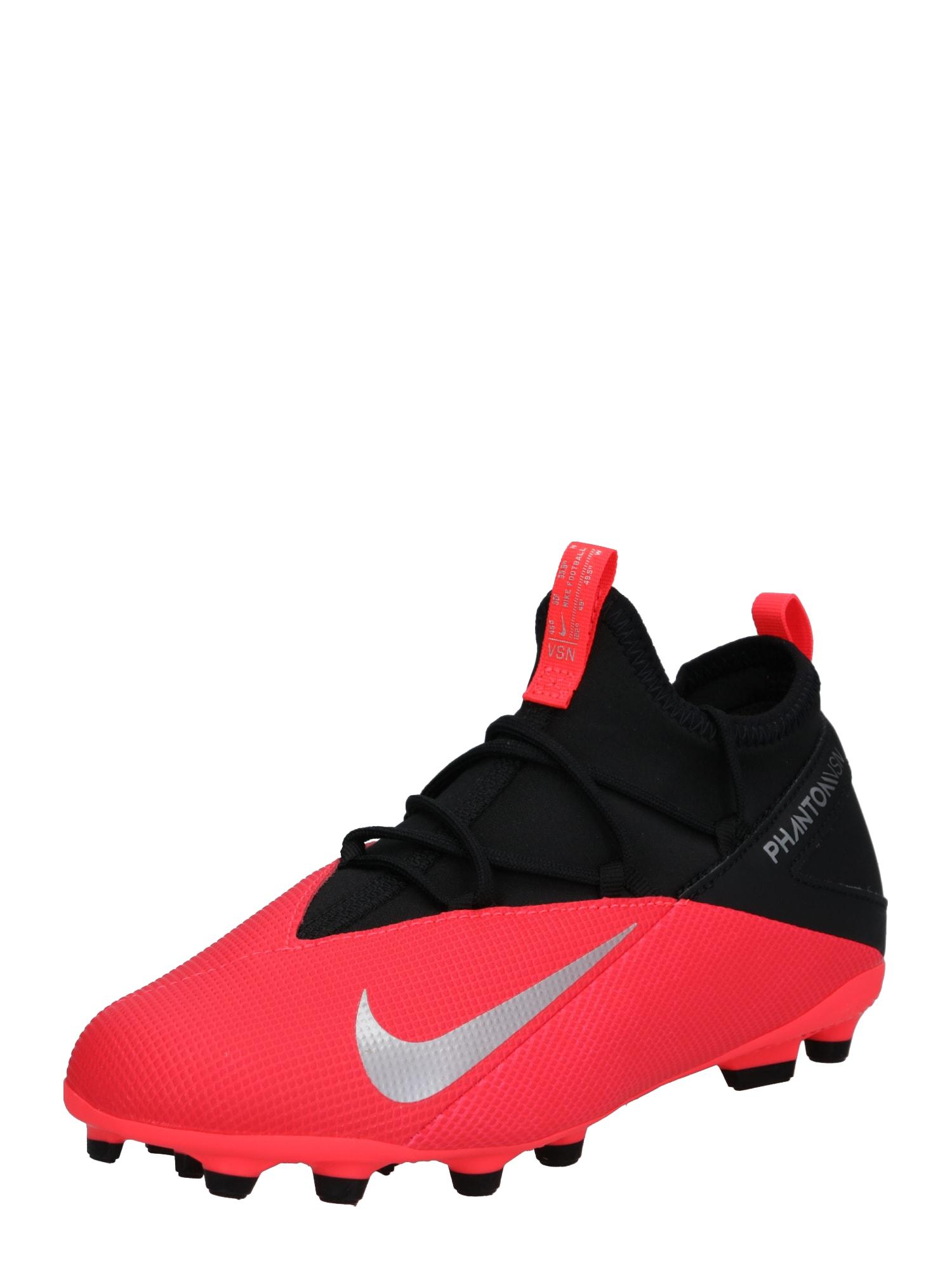 NIKE Sportiniai batai 'Jr. Phantom Vision 2 Club' neoninė raudona / juoda