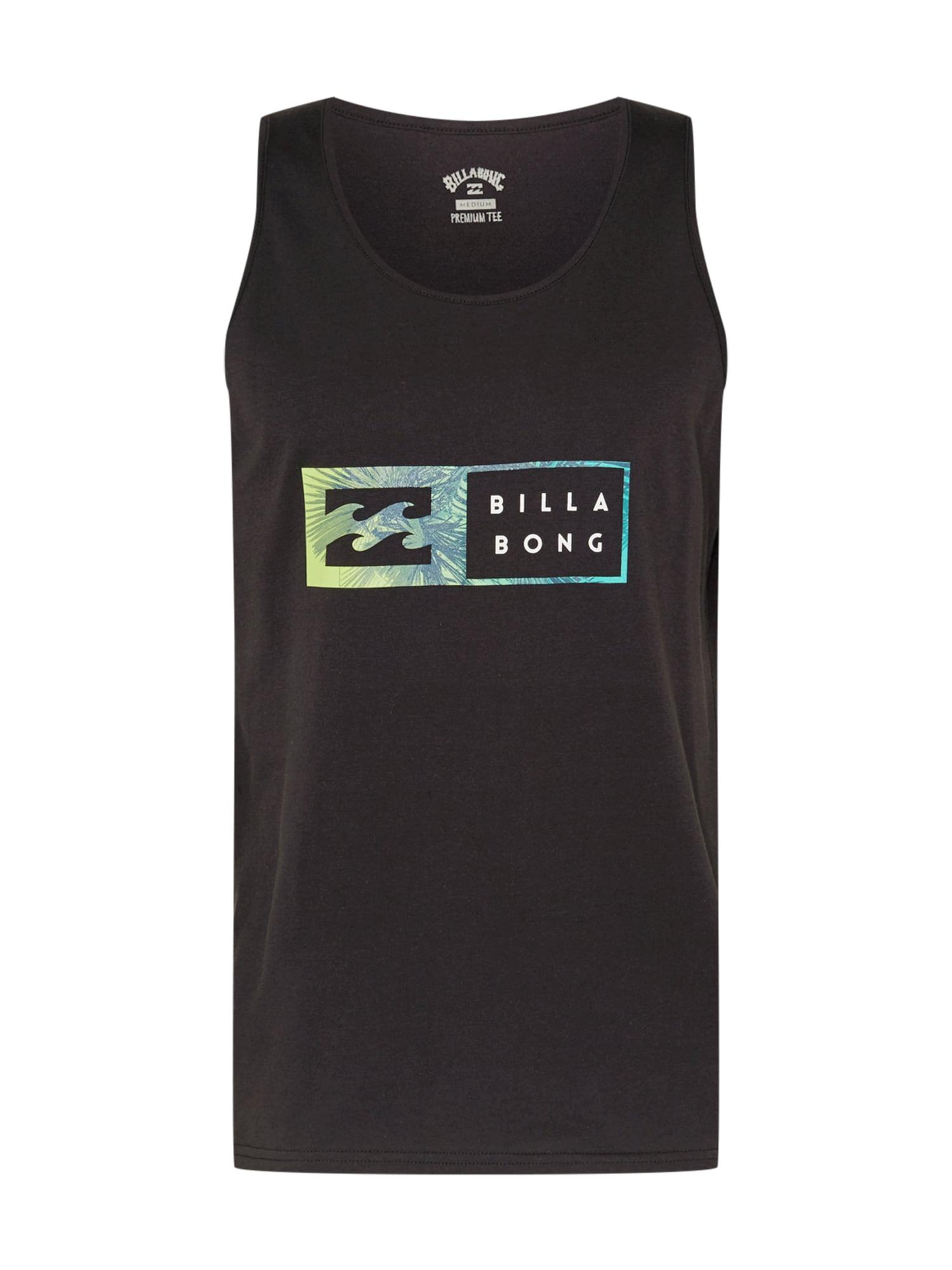 BILLABONG Marškinėliai juoda / balta / nendrių spalva / benzino spalva