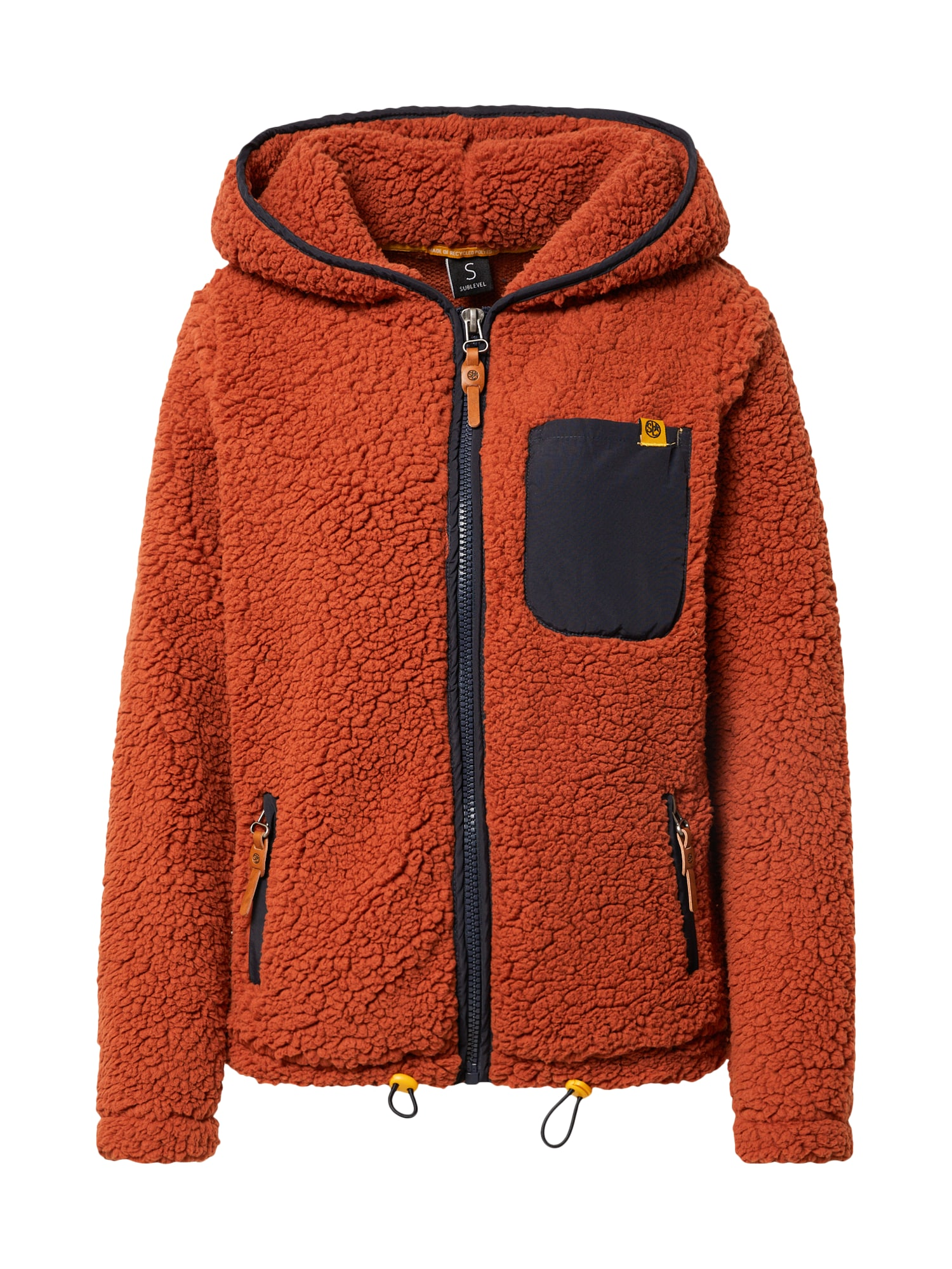 Sublevel Flisinis džemperis ruda / juoda