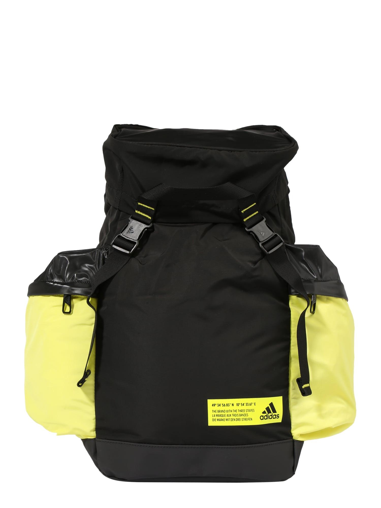 ADIDAS PERFORMANCE Sportinė kuprinė juoda / neoninė geltona