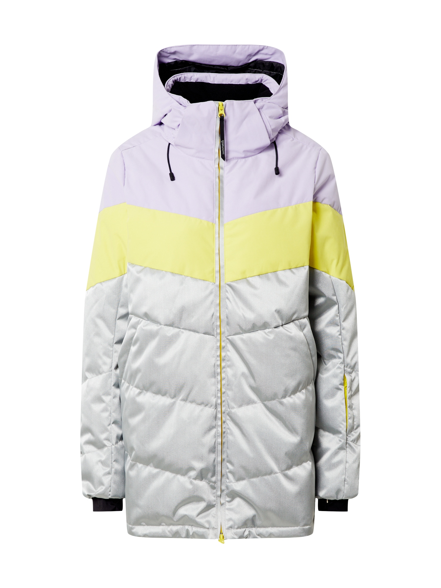 BRUNOTTI Sportovní bunda 'Okalani'  světle fialová / stříbrná / žlutá