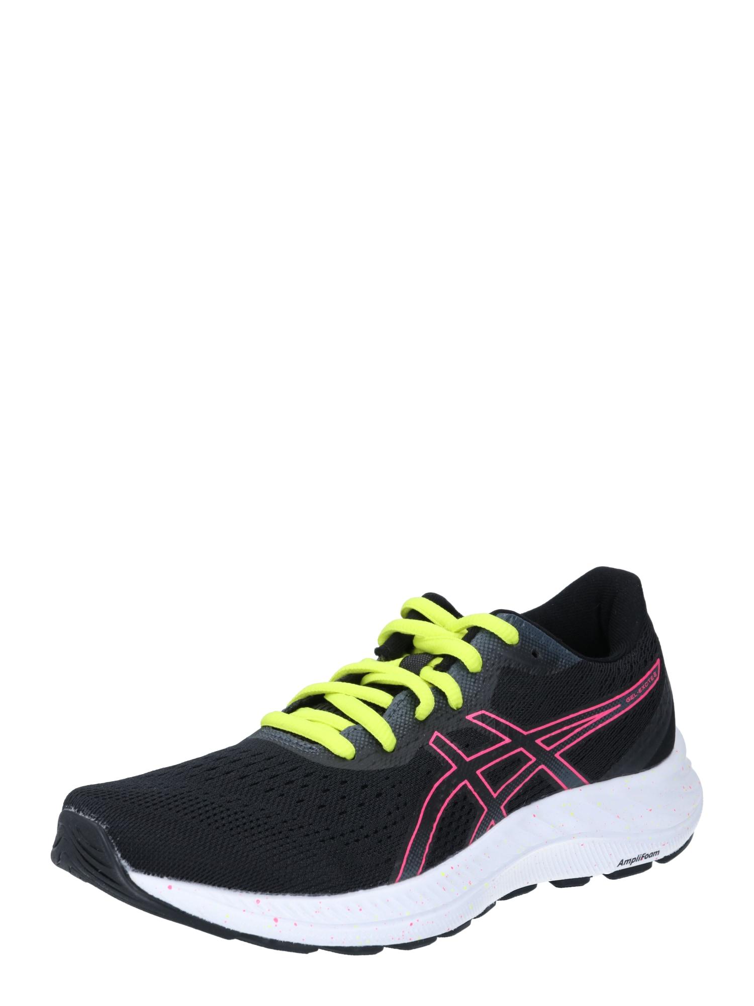 ASICS Bėgimo batai juoda / rožinė / neoninė žalia