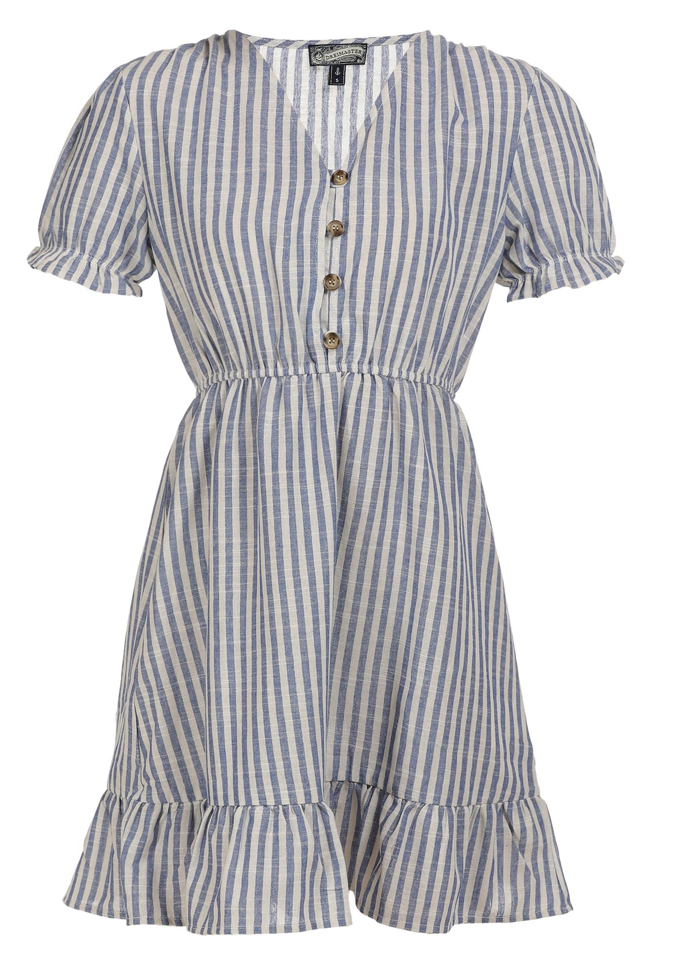 DreiMaster Vintage Vasarinė suknelė mėlyna / balta