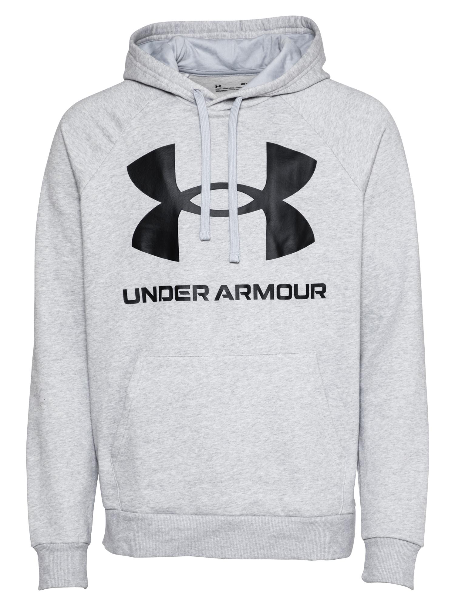 UNDER ARMOUR Sportinio tipo megztinis juoda / margai pilka