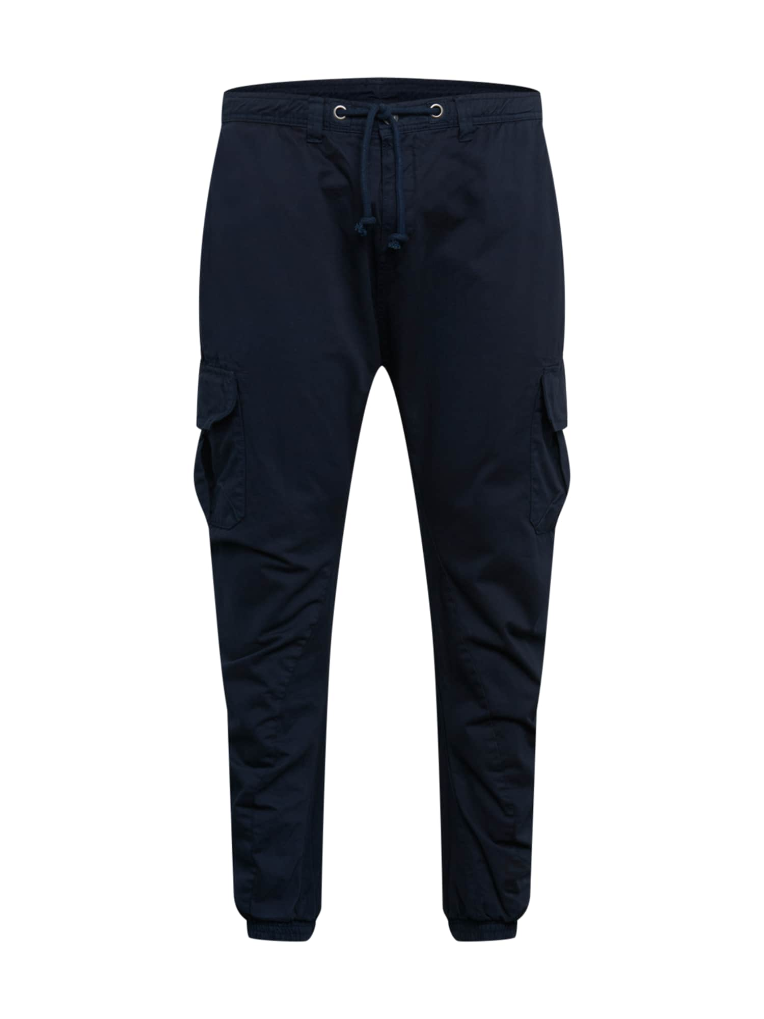 Urban Classics Big & Tall Laisvo stiliaus kelnės tamsiai mėlyna