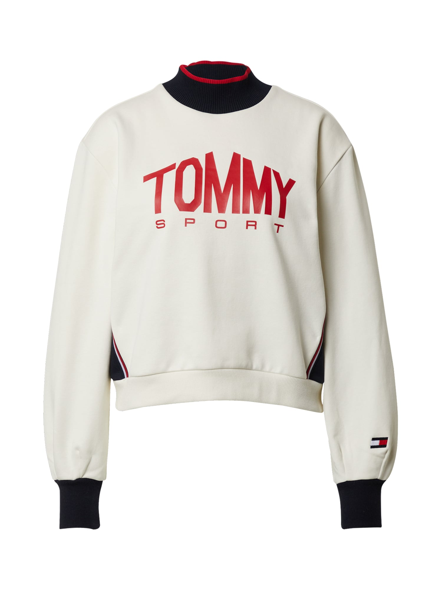 Tommy Sport Sportovní mikina  červená / bílá