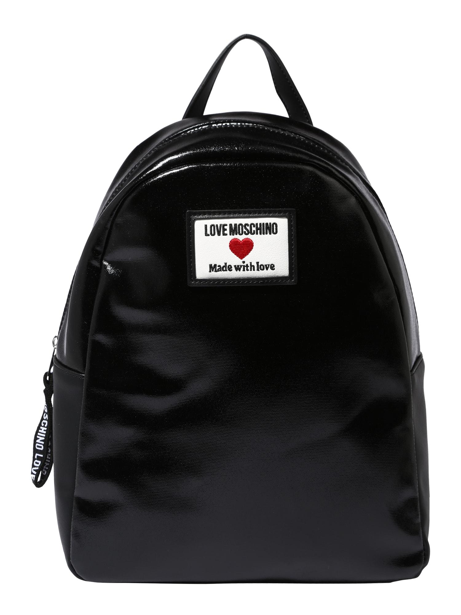 Love Moschino Kuprinė juoda / balta / raudona