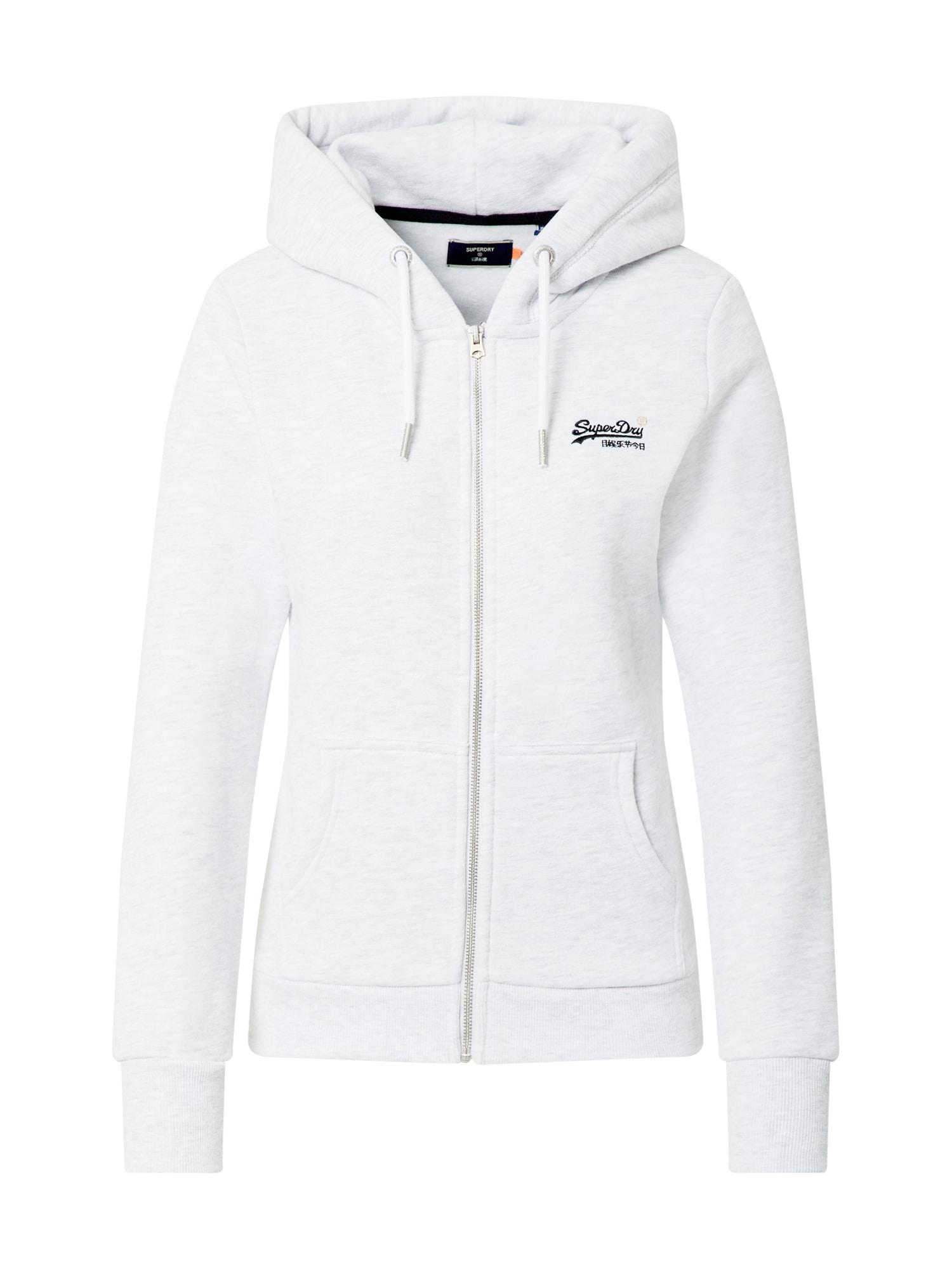 Superdry Mikina s kapucí  bílá