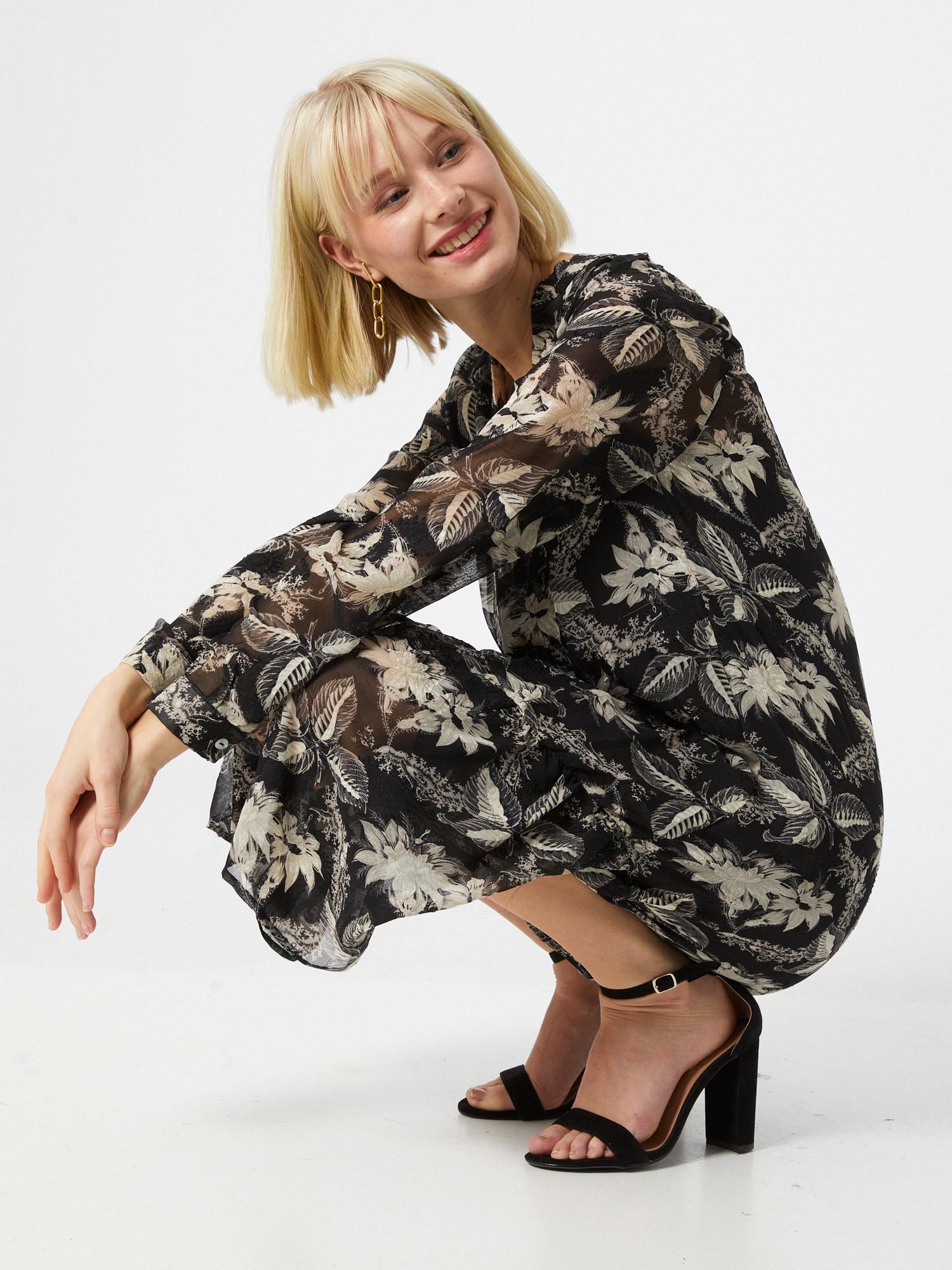 Love & Divine Košeľové šaty  béžová / svetlosivá / sivá melírovaná / čierna.