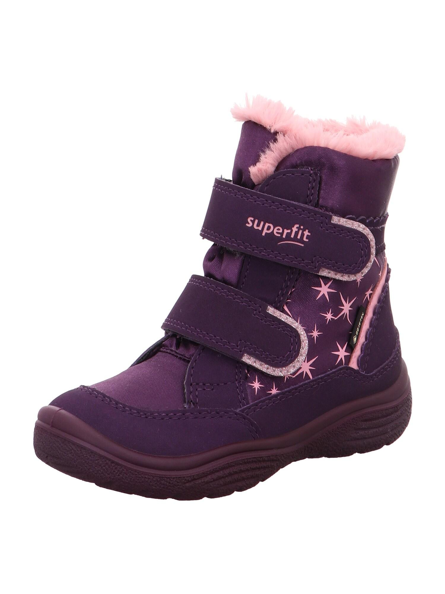 SUPERFIT Auliniai batai su kulniuku 'CRYSTAL' rožių spalva / purpurinė