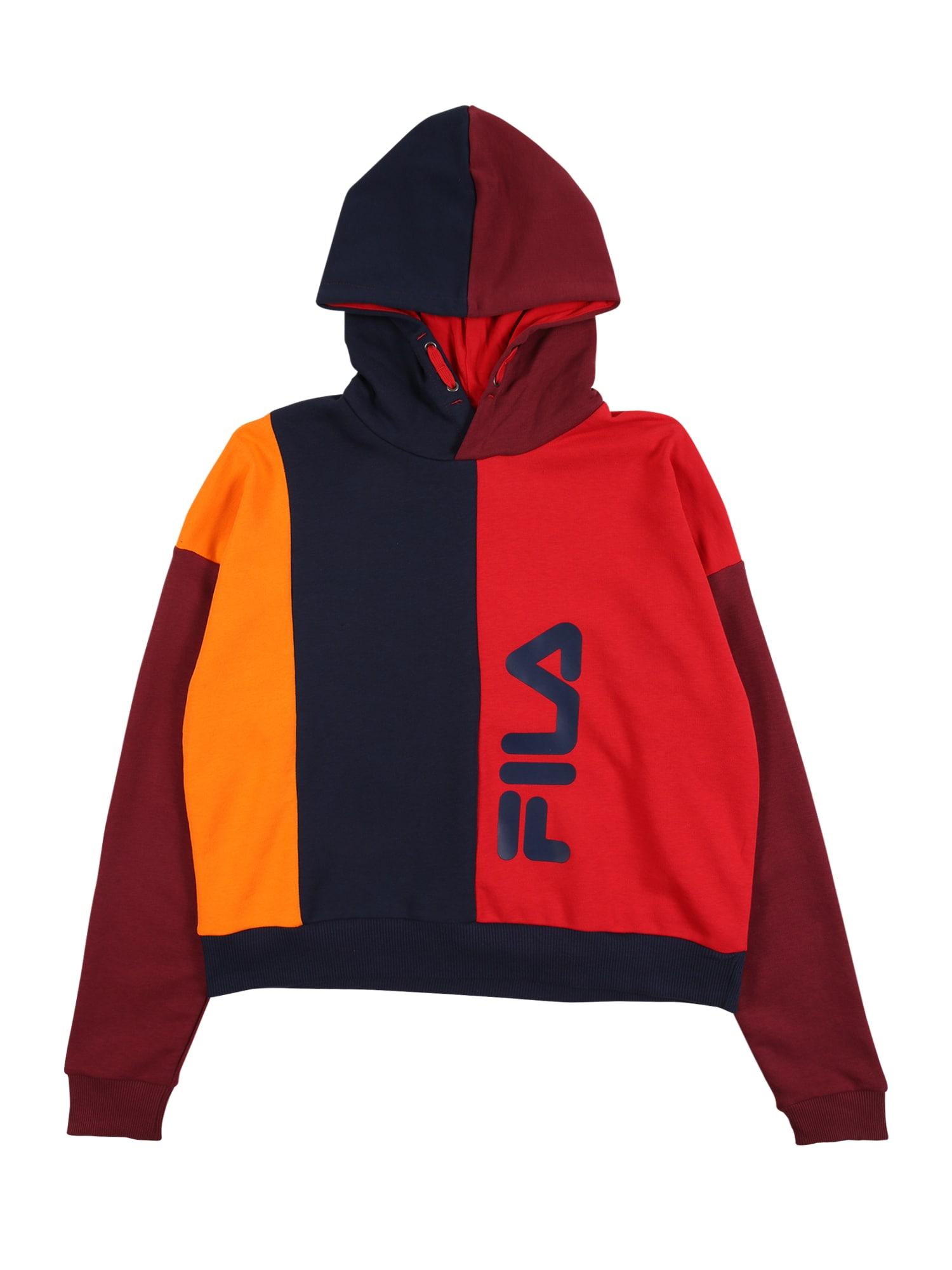 FILA Megztinis be užsegimo raudona / oranžinė / tamsiai mėlyna