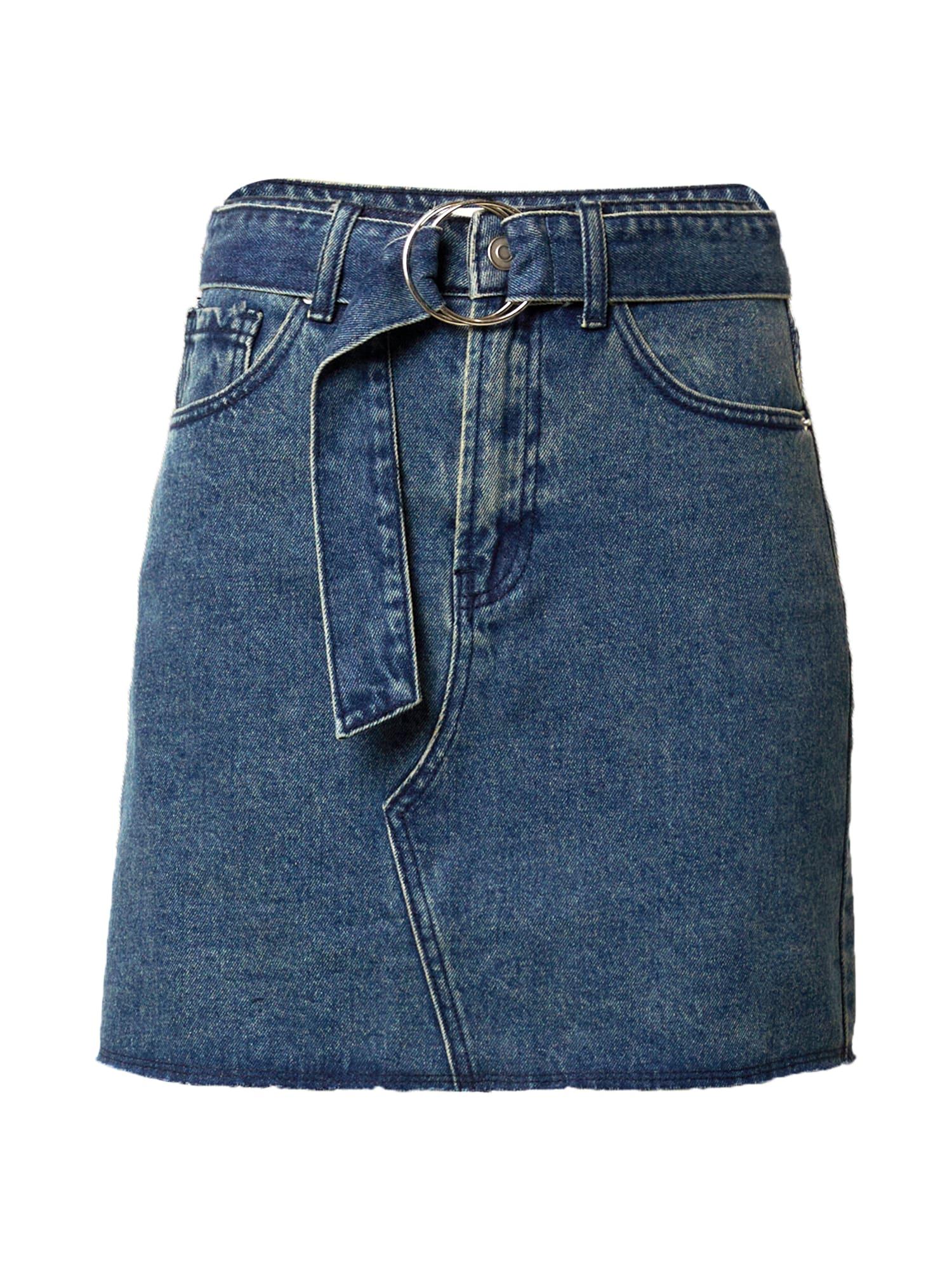 24COLOURS Sijonas tamsiai (džinso) mėlyna
