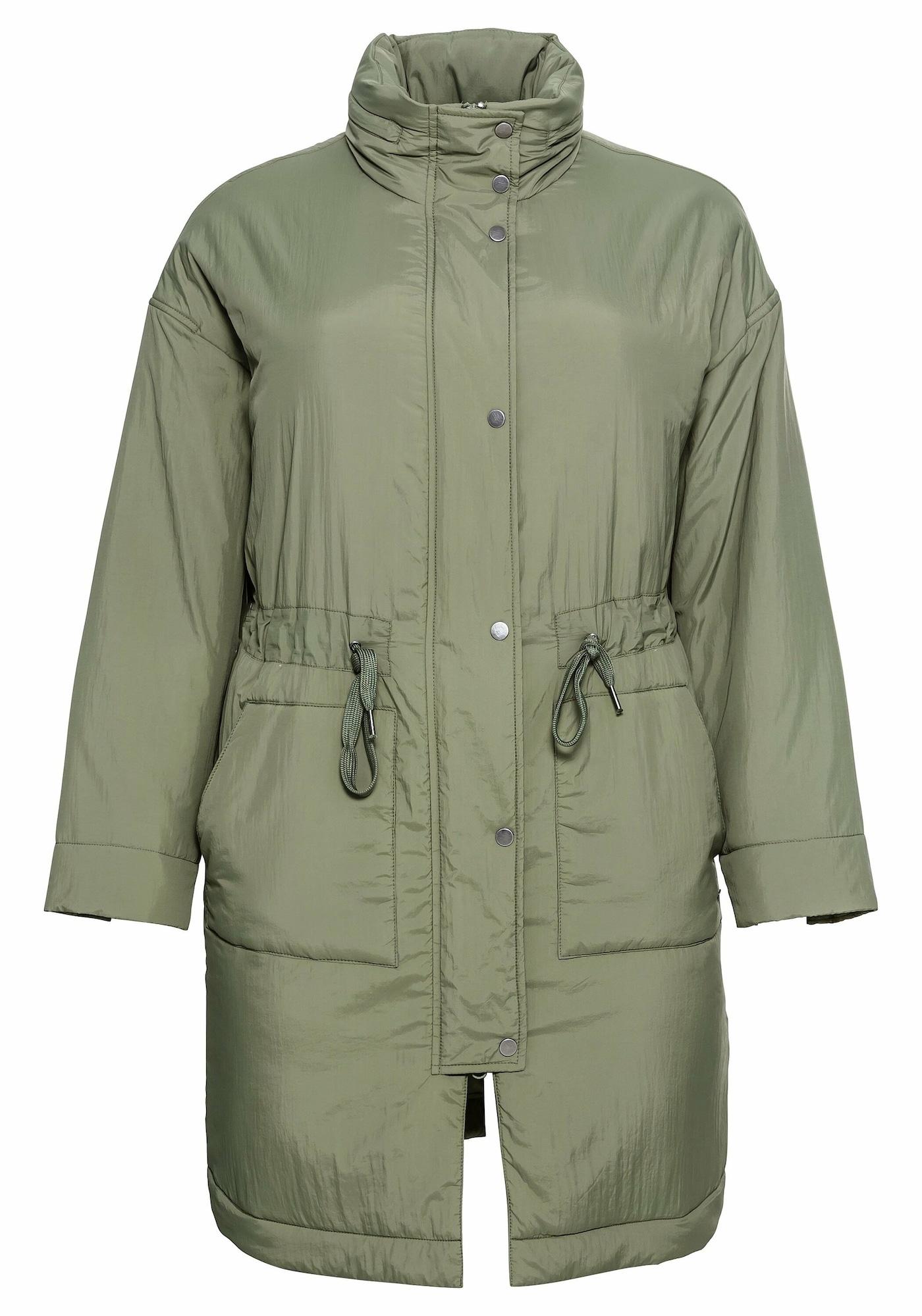 SHEEGO Demisezoninis paltas rusvai žalia