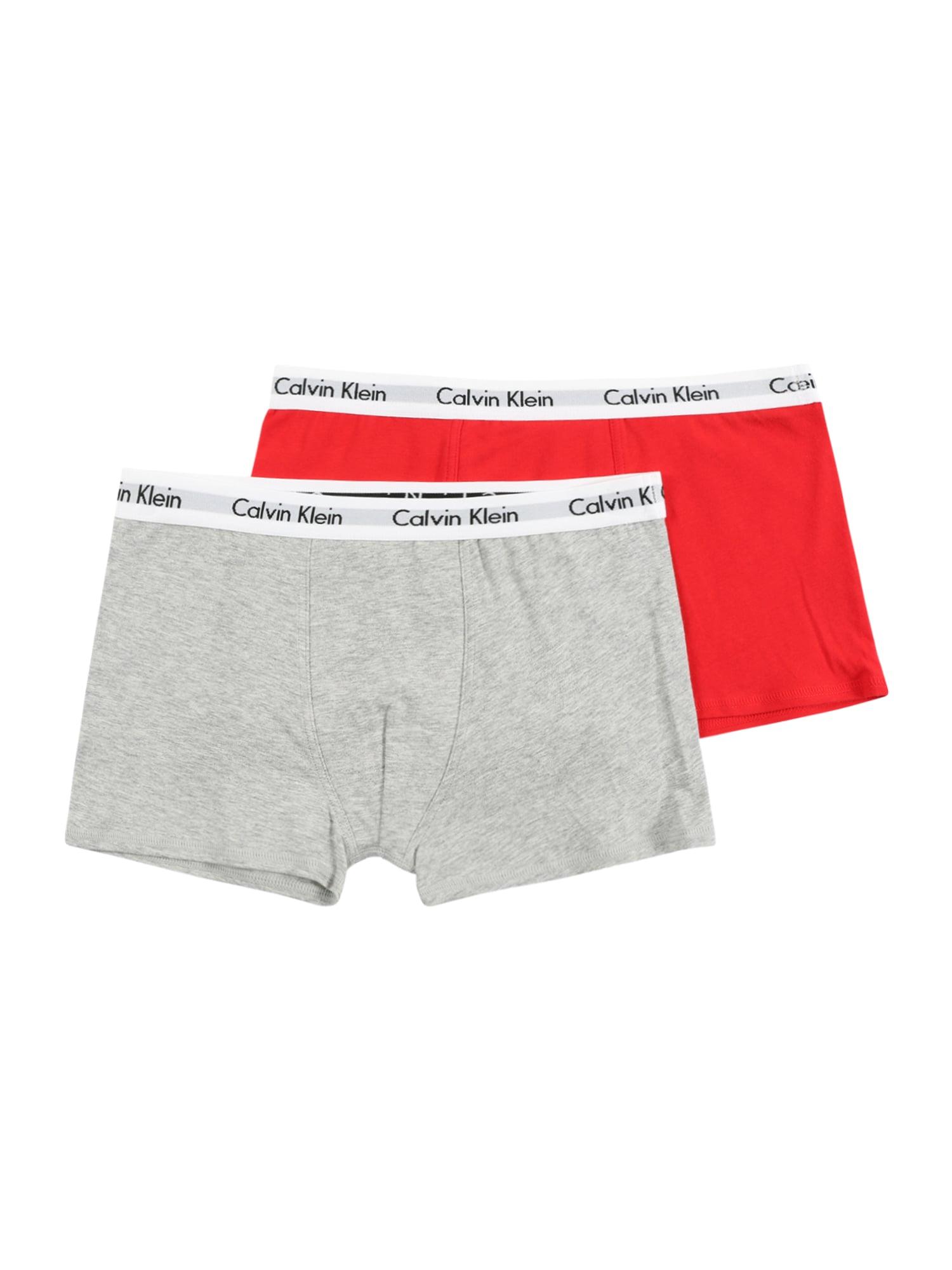 Calvin Klein Underwear Apatinės kelnaitės margai pilka / raudona / balta / juoda