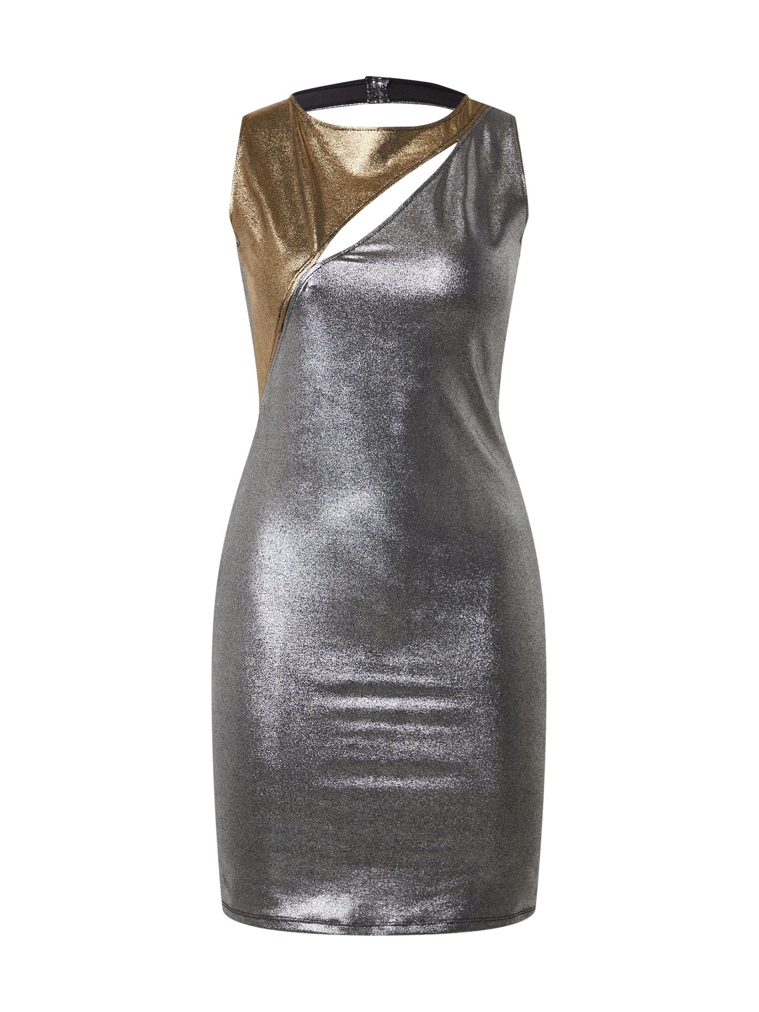 KENDALL + KYLIE Vakarinė suknelė bronzinė / sidabrinė