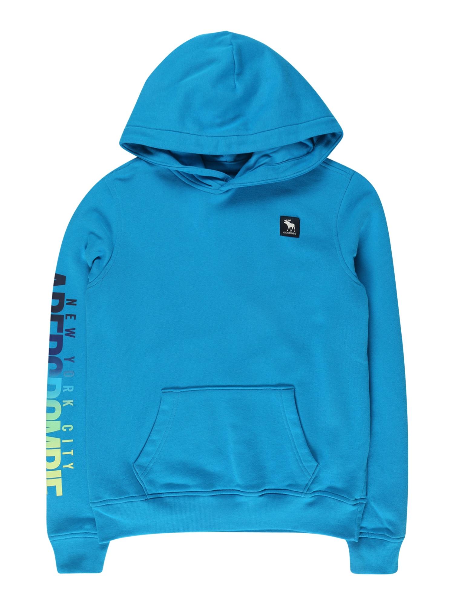 Abercrombie & Fitch Megztinis be užsegimo 'MAY1' dangaus žydra / tamsiai mėlyna / šviesiai pilka
