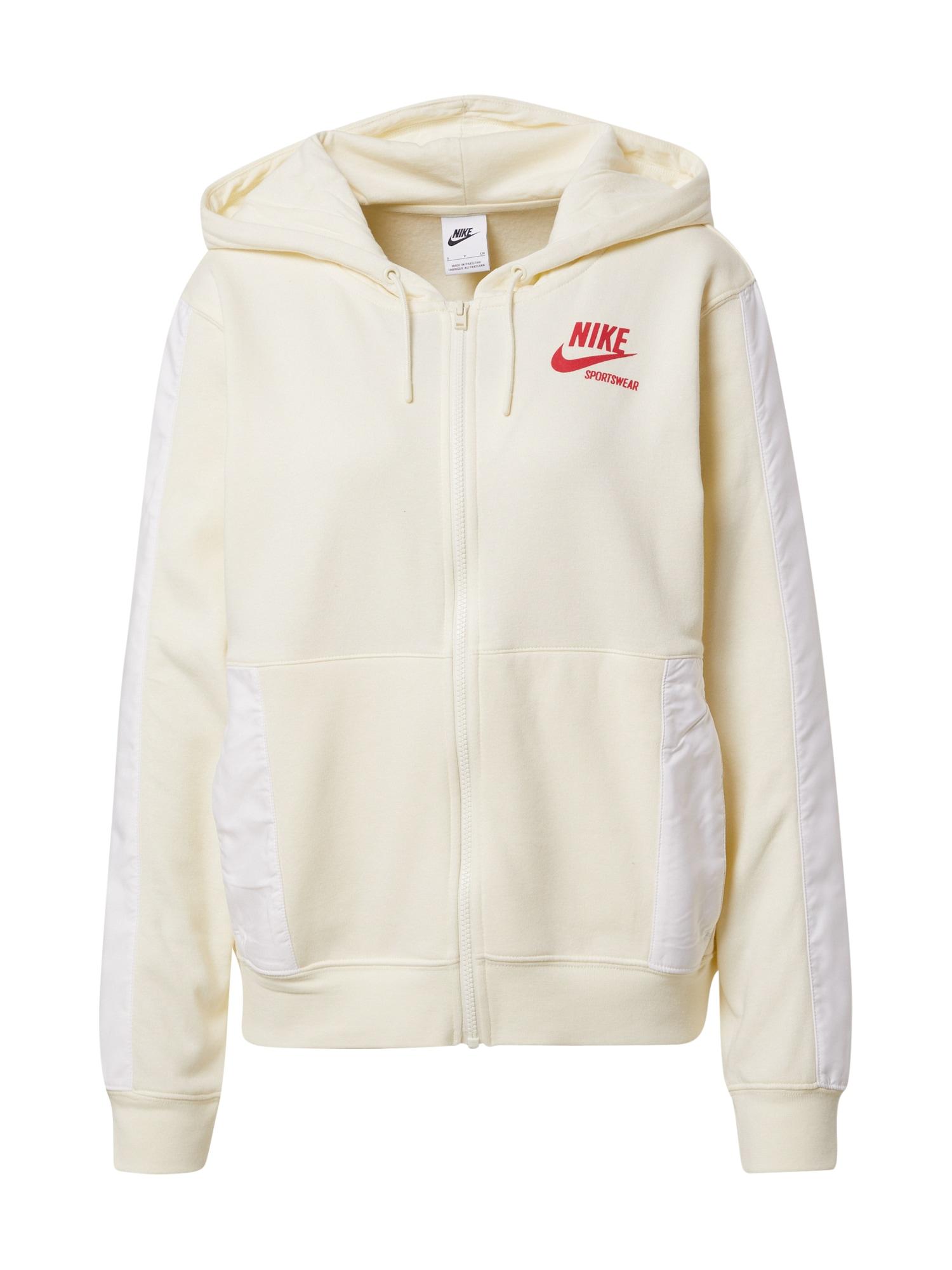 Nike Sportswear Džemperis balkšva / kremo / raudona