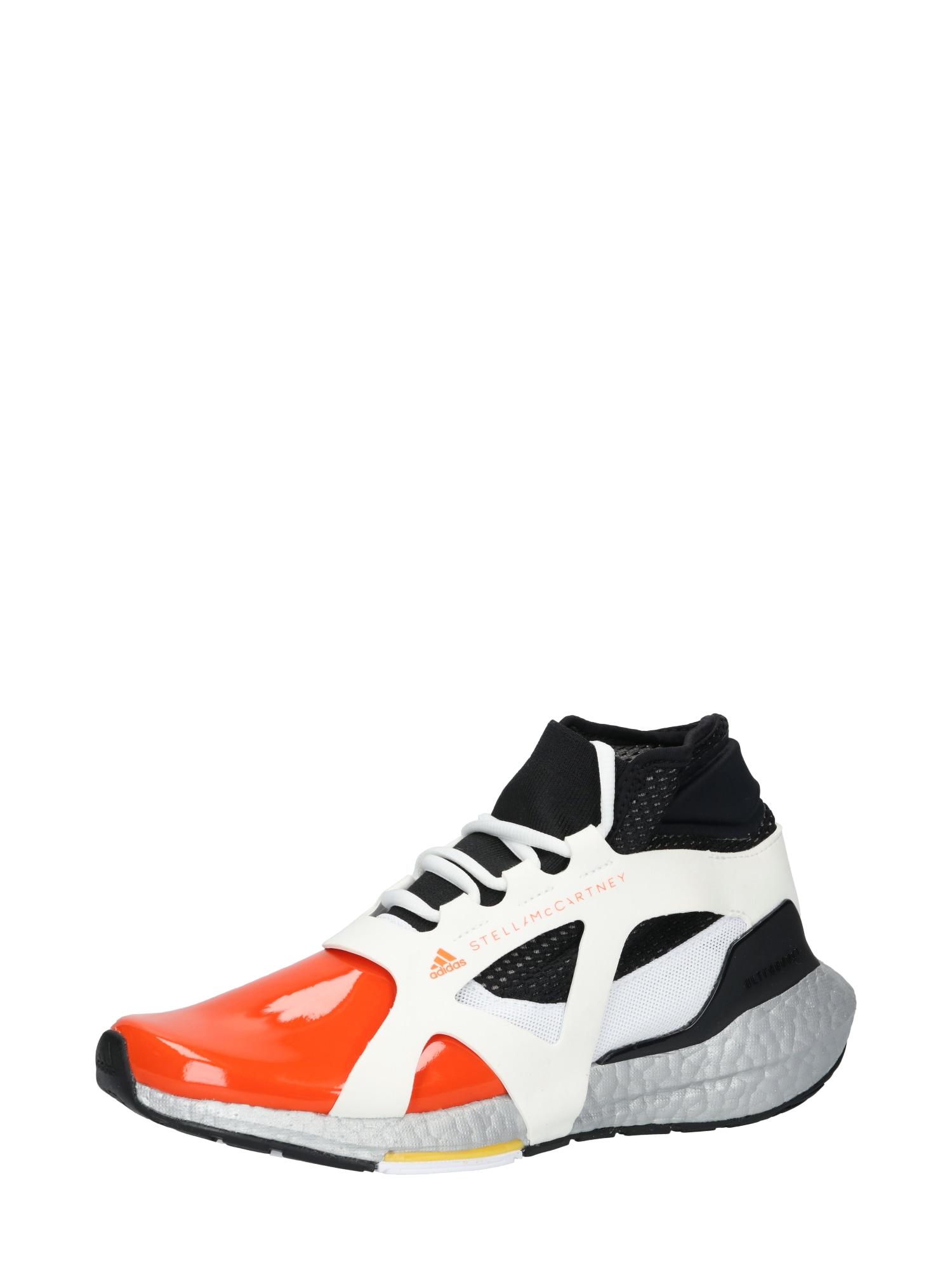 adidas by Stella McCartney Sportiniai batai balta / juoda / oranžinė