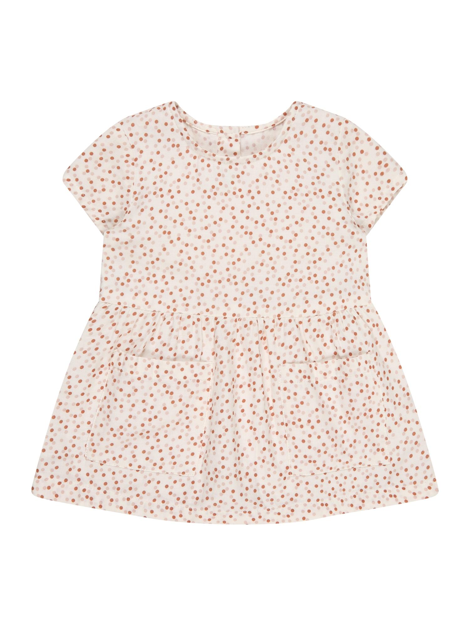 UNITED COLORS OF BENETTON Suknelė balta / raudona / ryškiai rožinė spalva