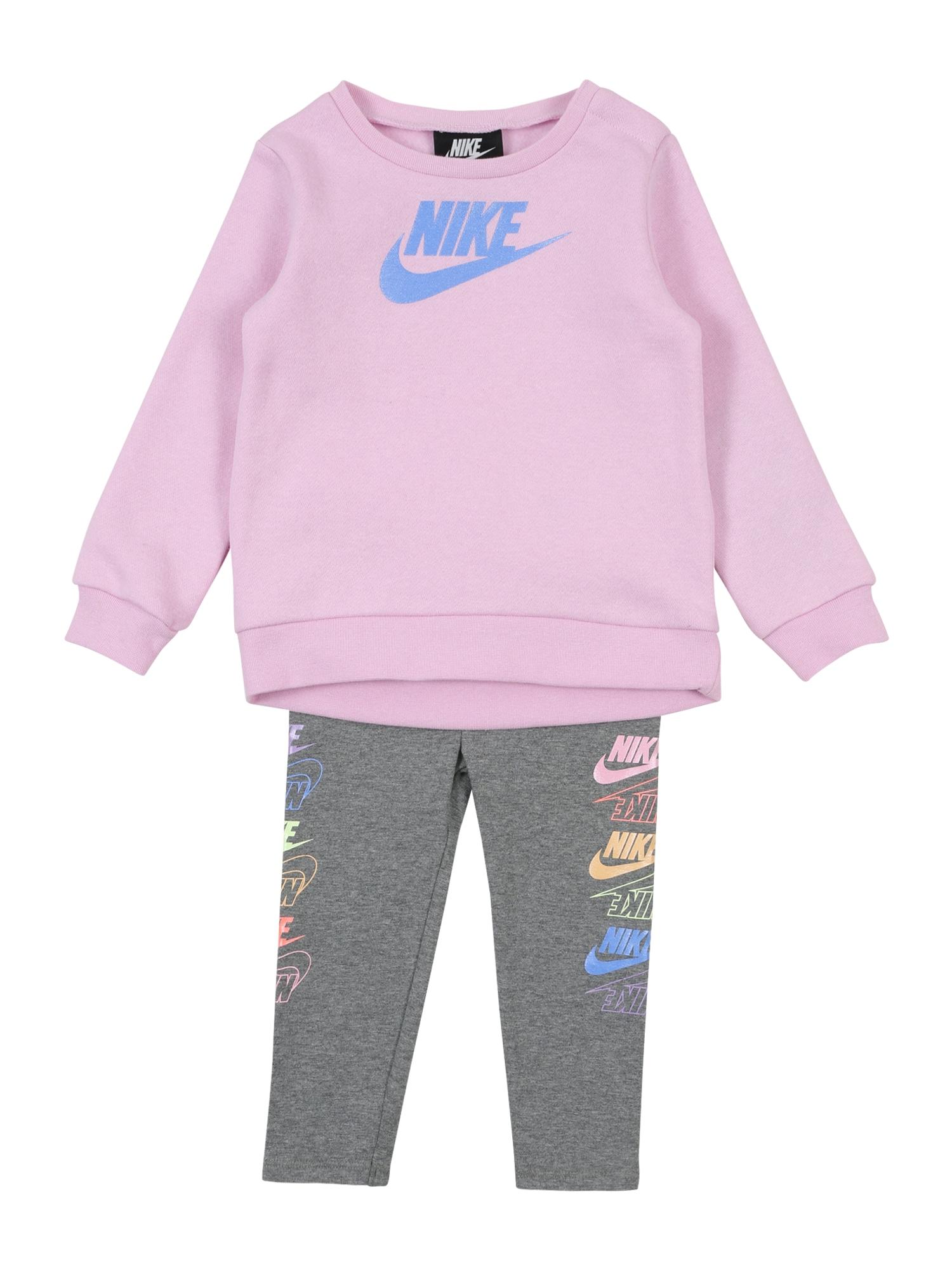 Nike Sportswear Treningas 'FUTURA STACK' tamsiai pilka / rausvai violetinė spalva / mišrios spalvos