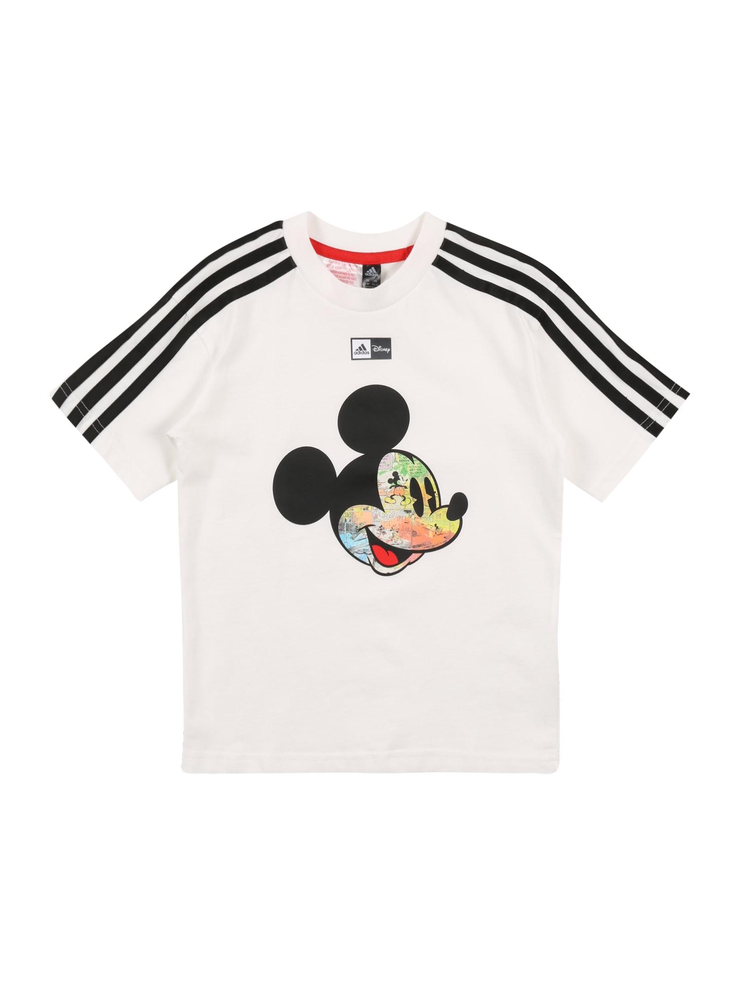 ADIDAS PERFORMANCE Sportiniai marškinėliai mišrios spalvos / balta / juoda