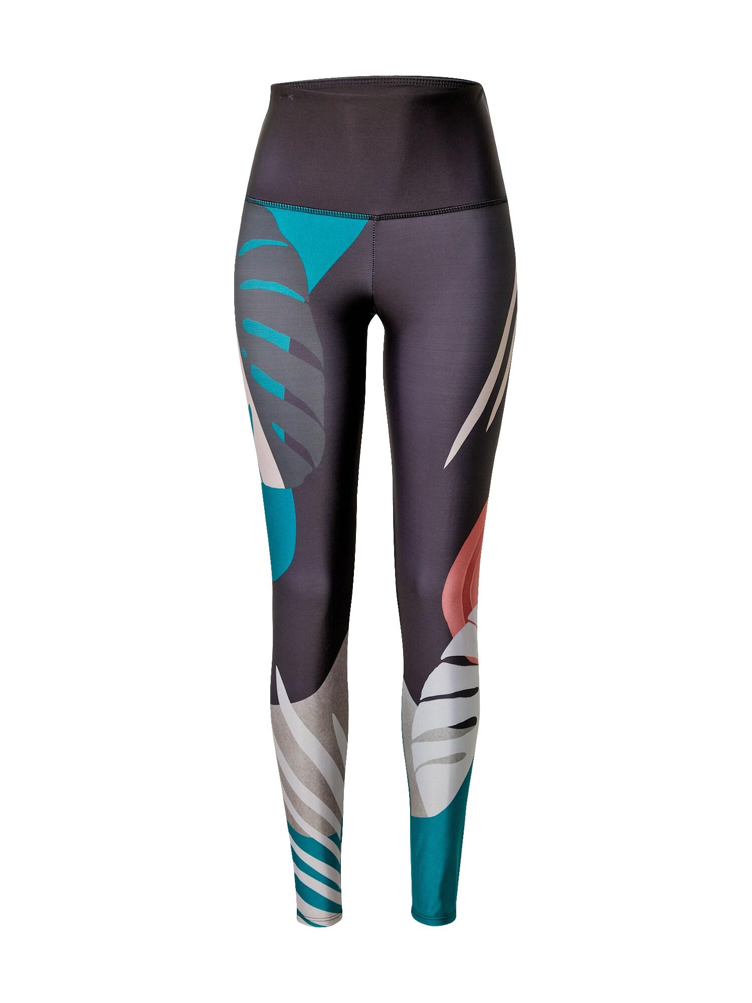 Onzie Sportovní kalhoty  tmavě modrá / tyrkysová / bílá / stříbrně šedá / světle růžová